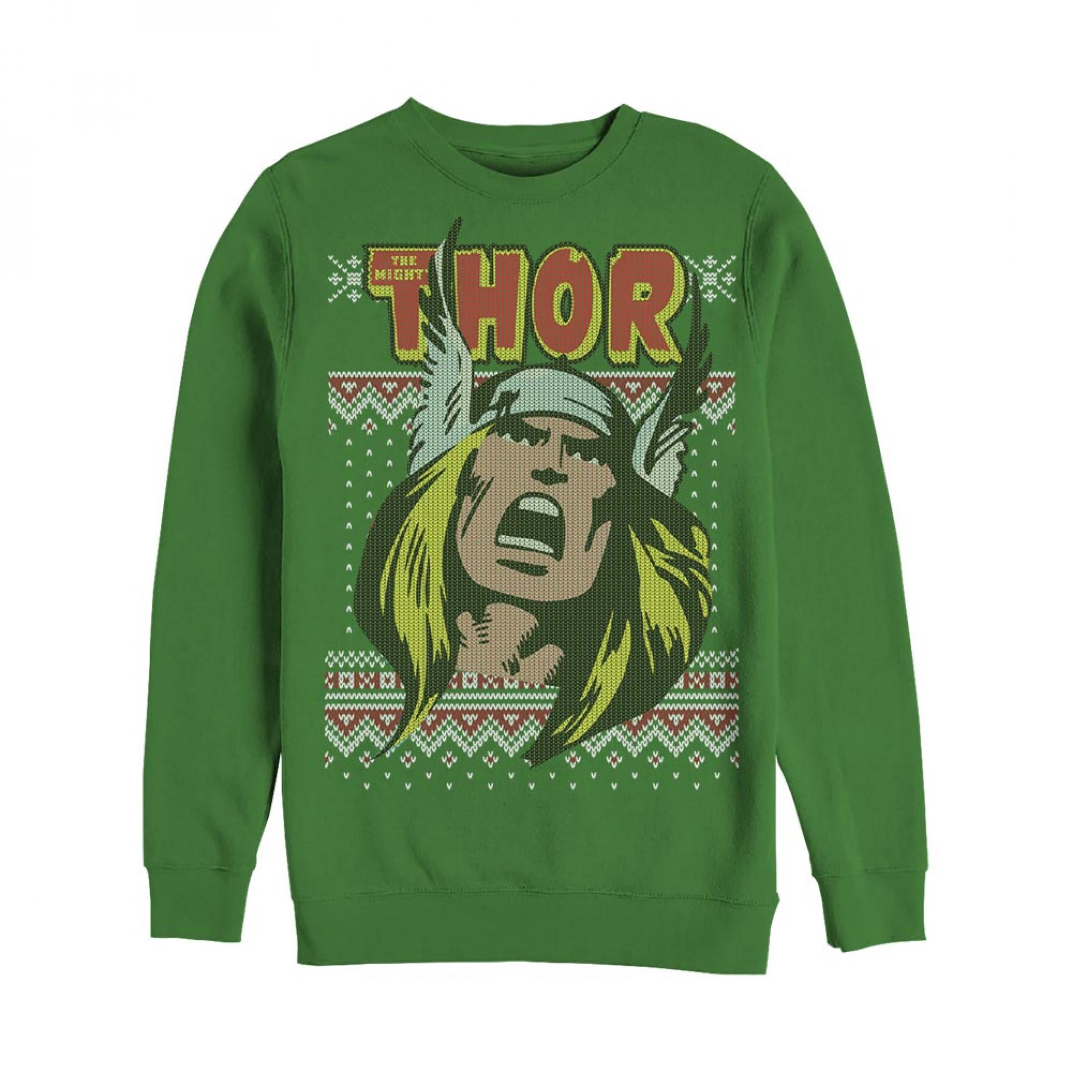The Mighty Thor Ugly Christmas Sweatshirt