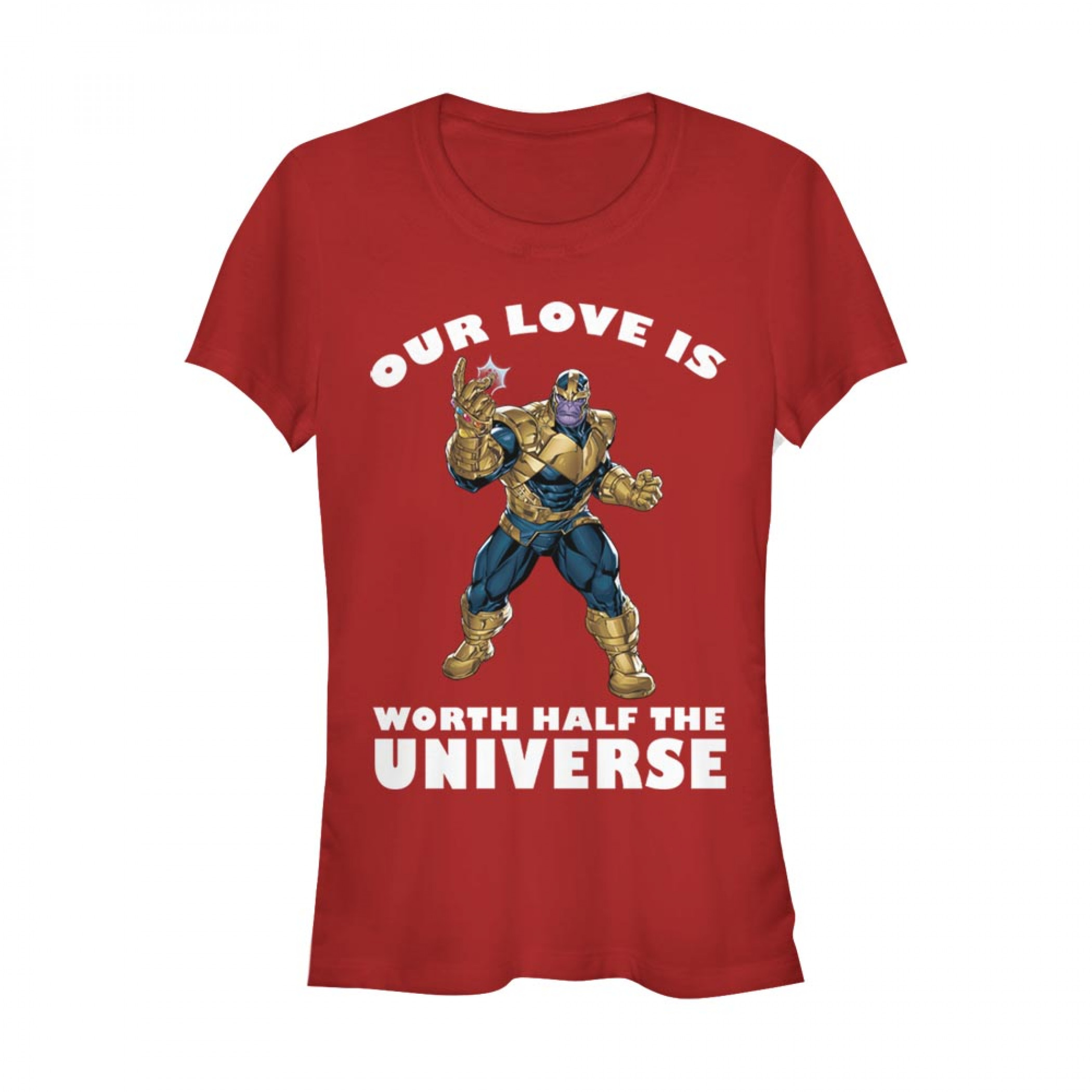 Thanos Our Love is Worth Half the Universe Women's Red T-Shirt