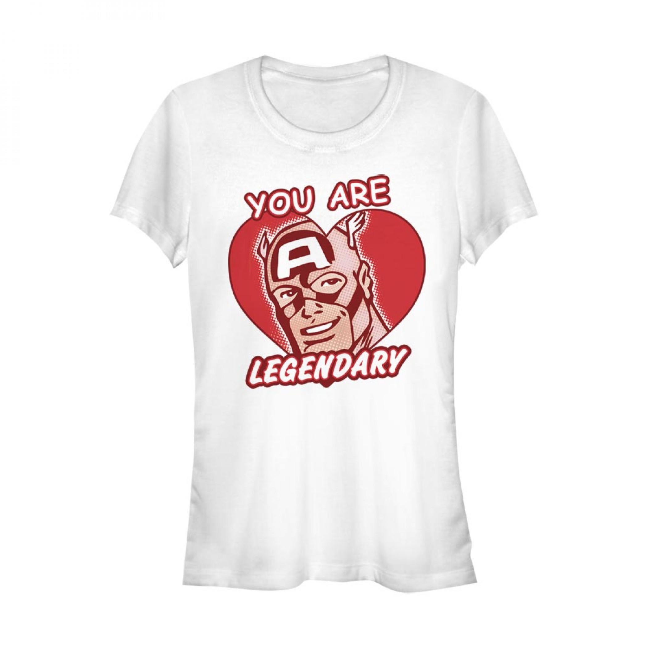Captain America You Are Legendary Women's White T-Shirt