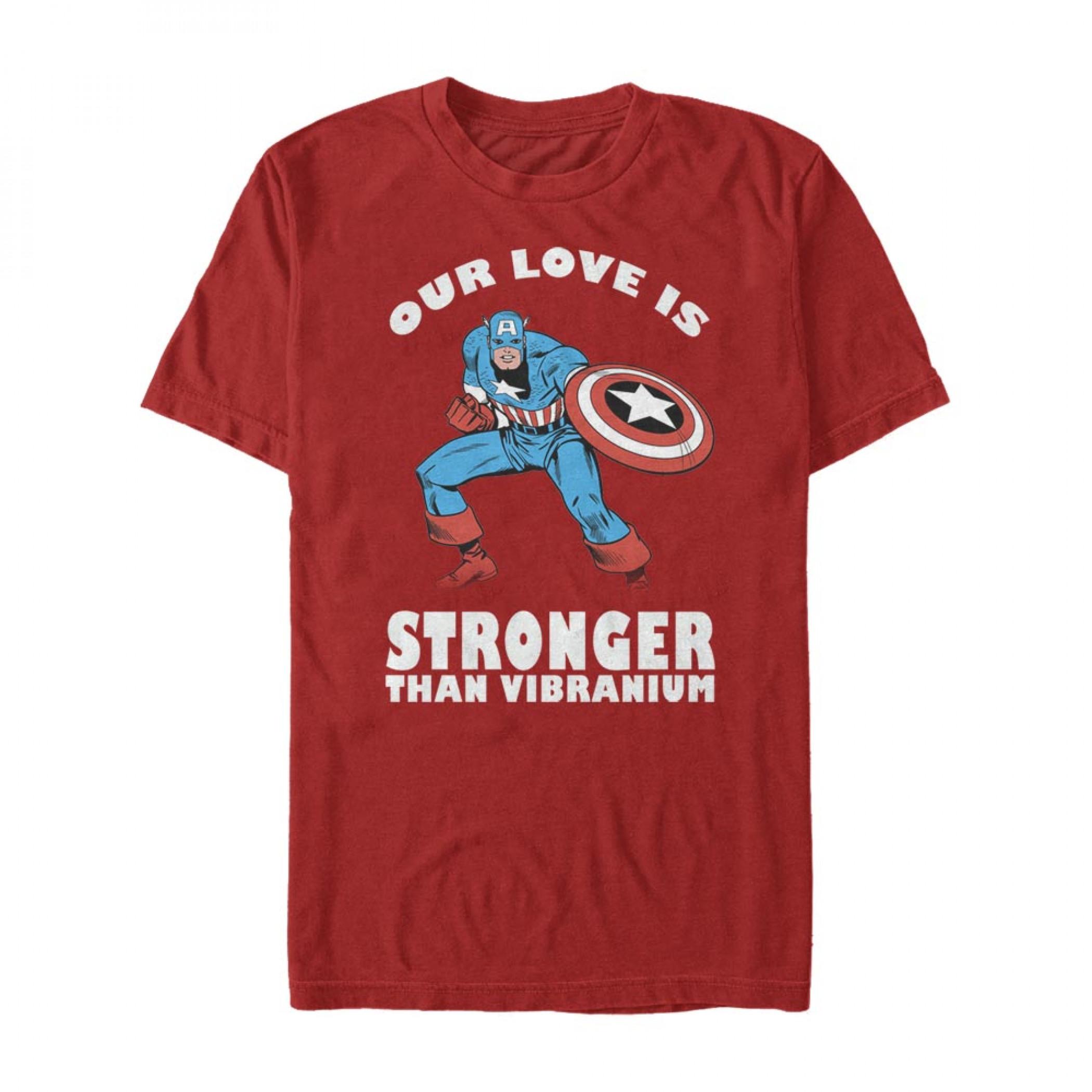 Captain America Our Love is Stronger Than Vibranium T-Shirt