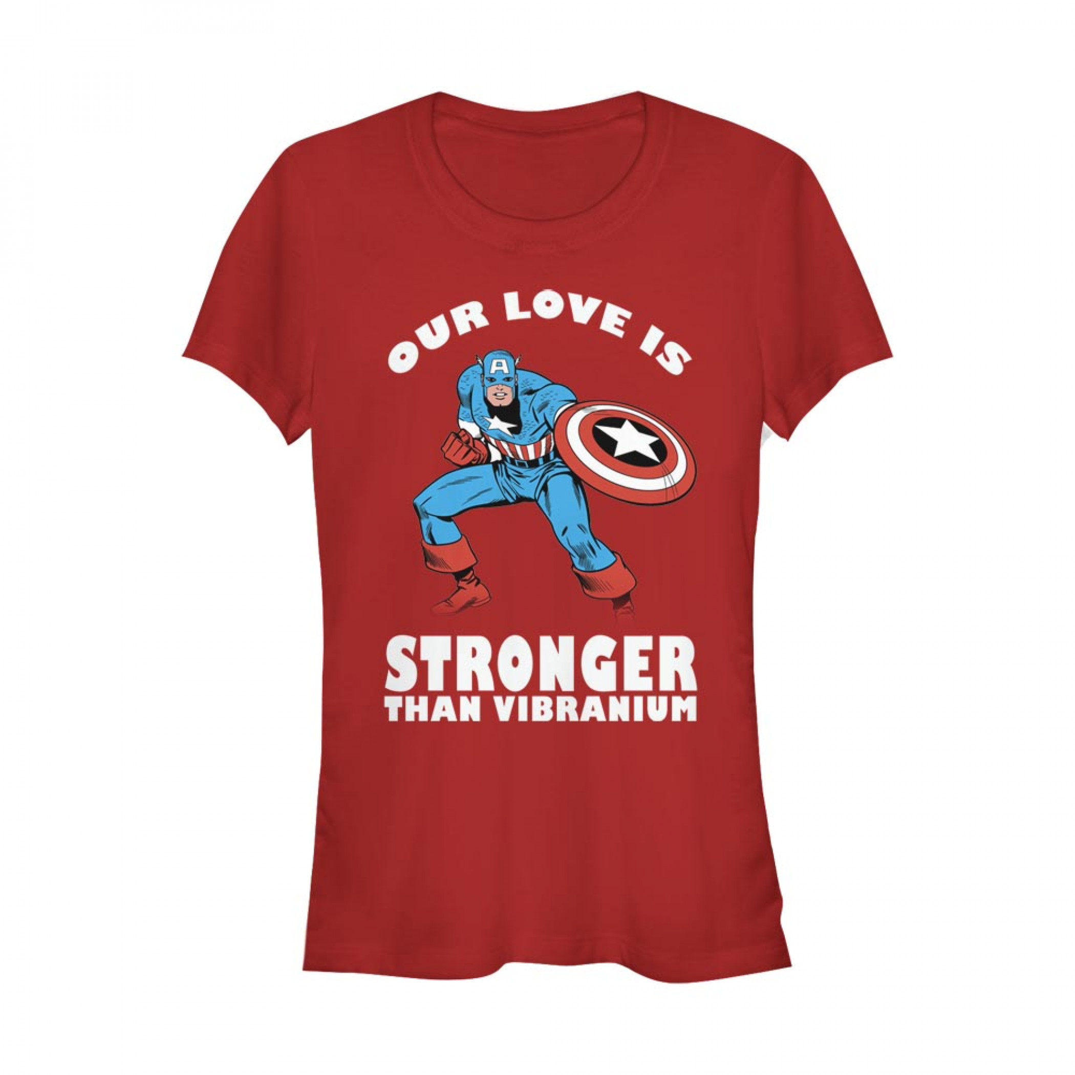 Captain America Our Love is Stronger Than Vibranium Women's T-Shirt