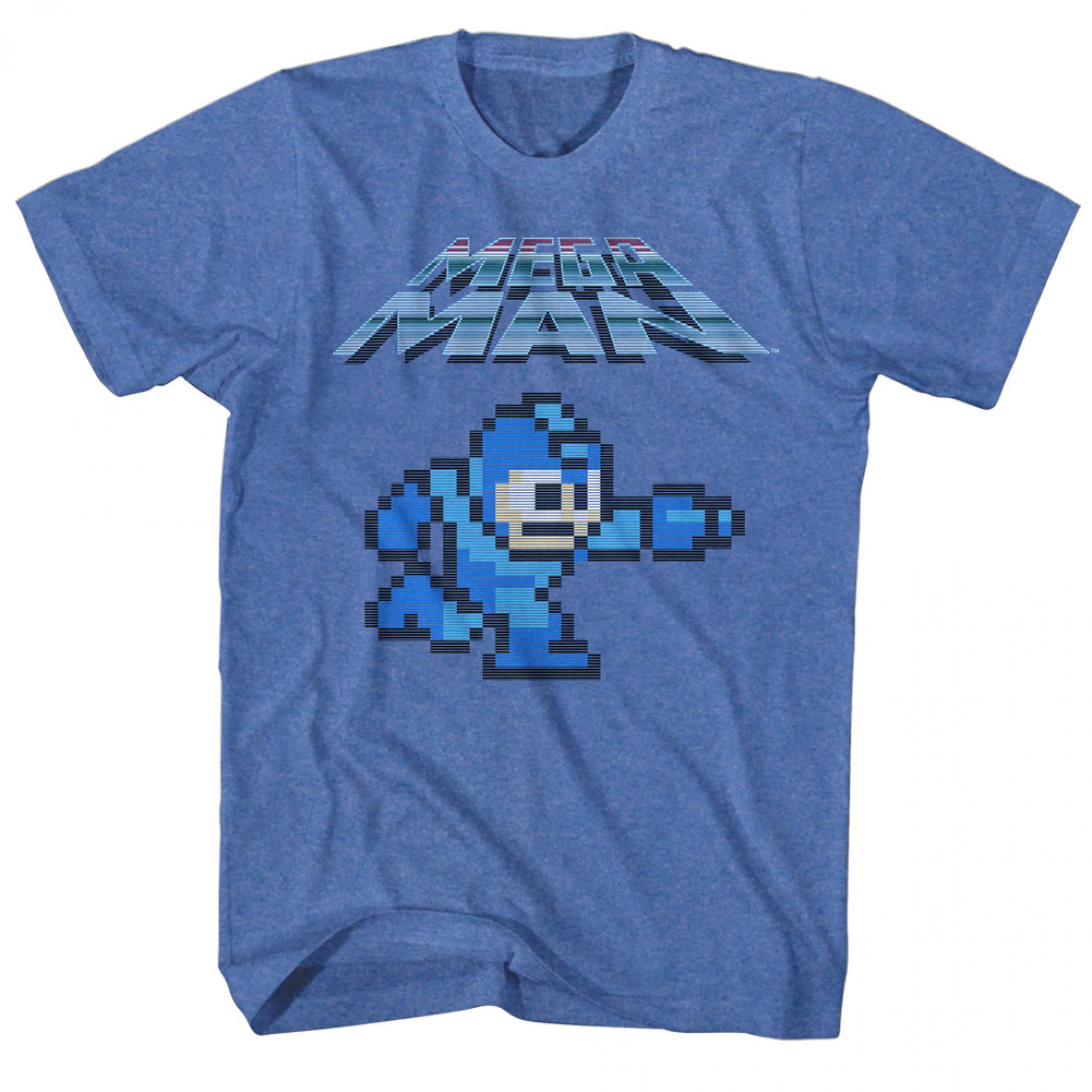 Mega Man Pixel Character T-Shirt