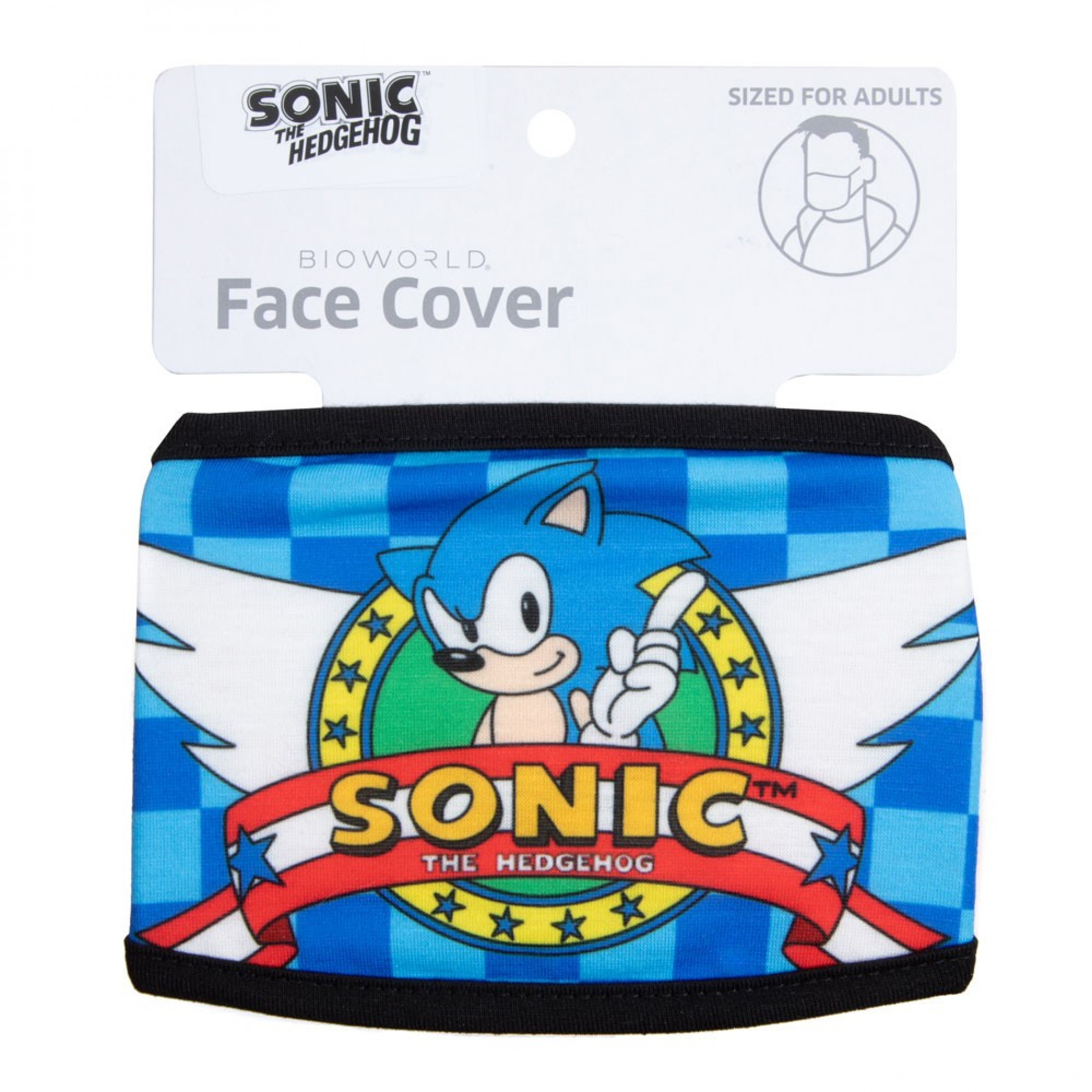 Sonic The Hedgehog Adjustable Face Cover