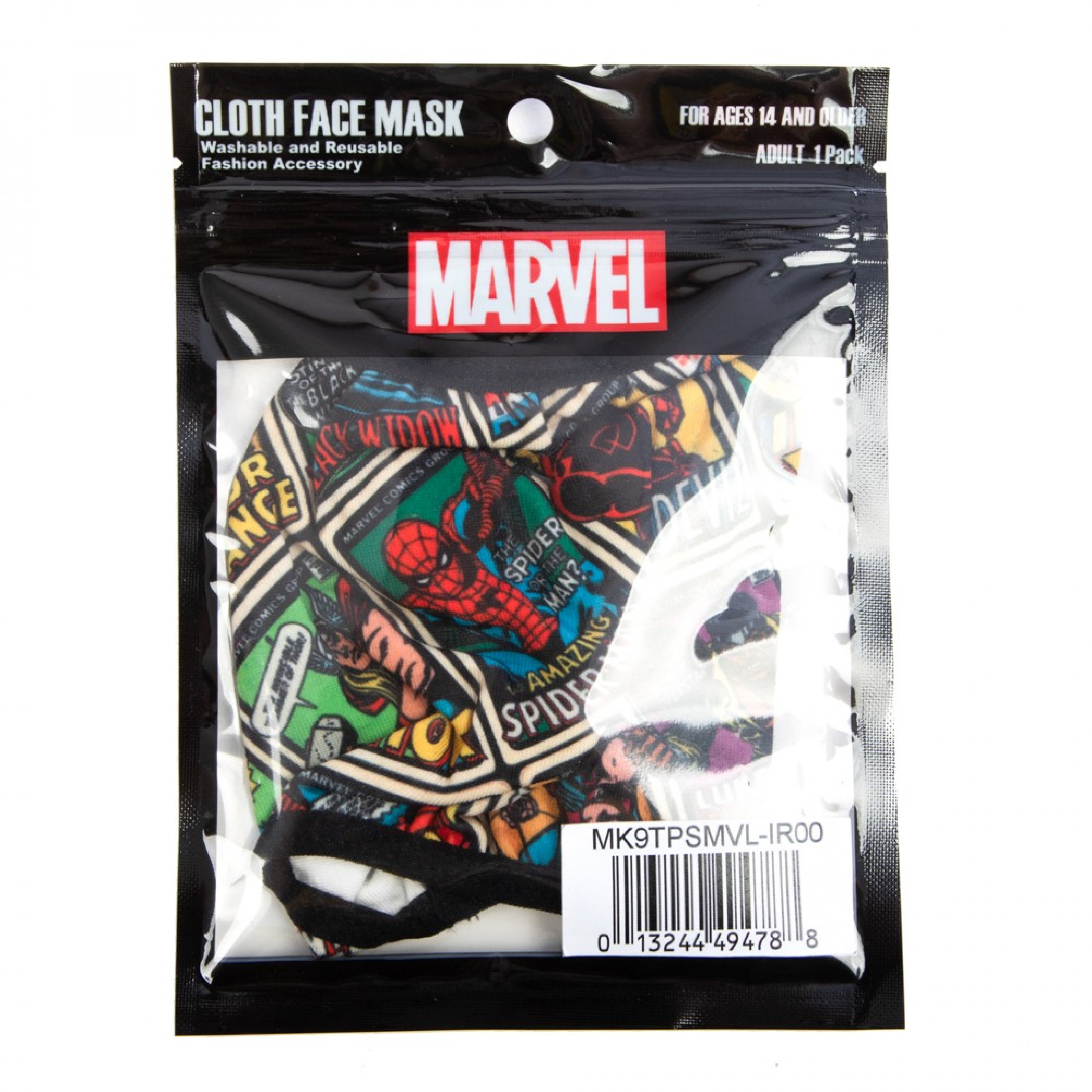 Marvel Comics All Over Adjustable Face Cover