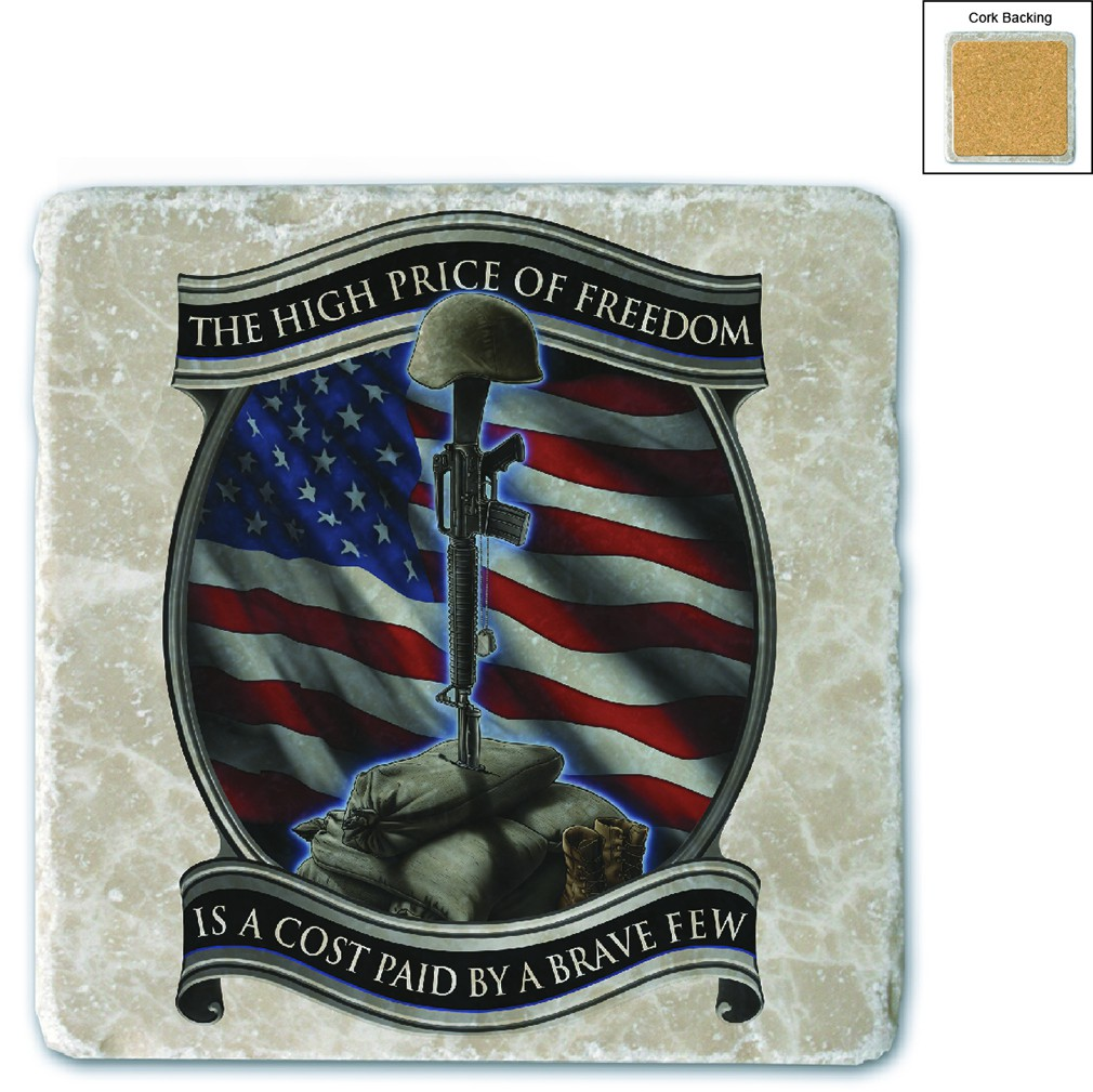 Army USA Soldiers Cross Stone Coaster