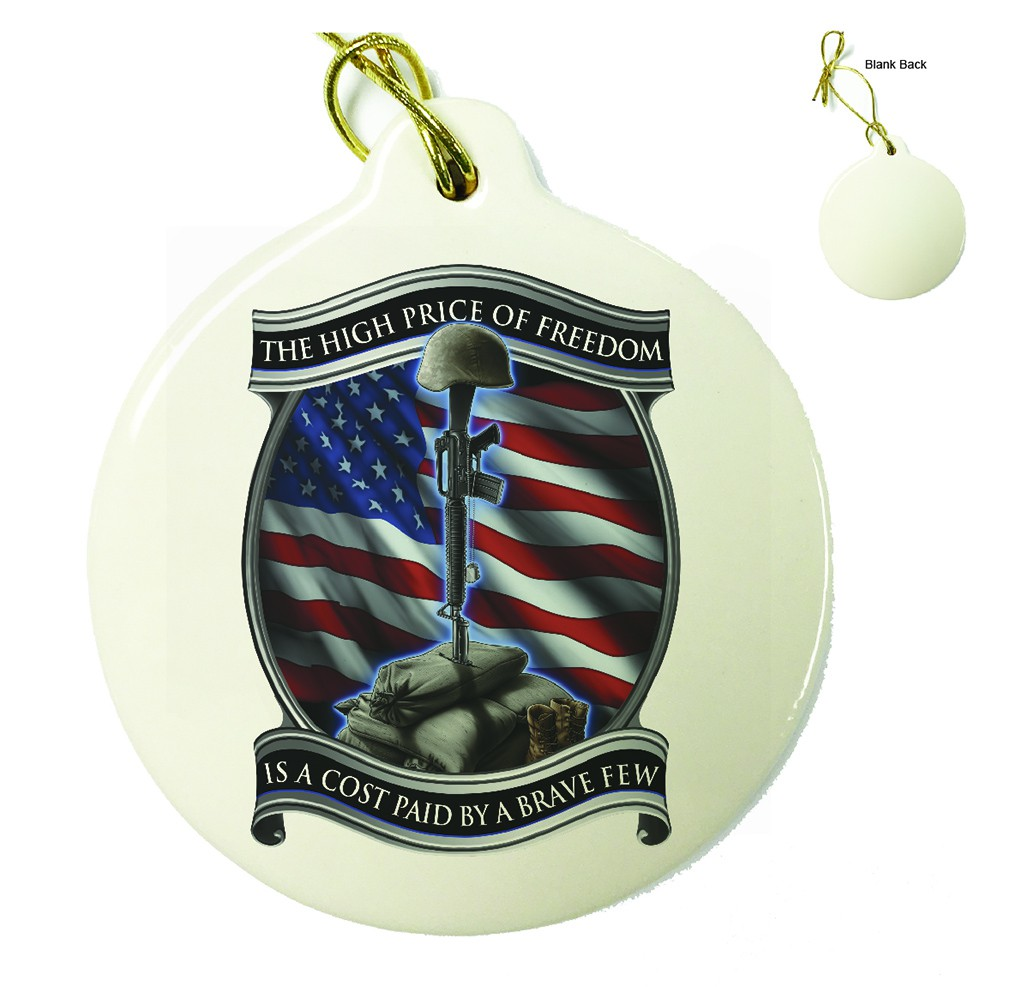 US Army Soldiers Cross Porcelain Ornament