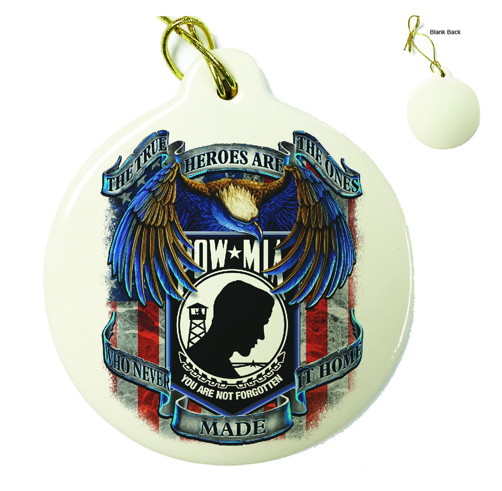 POW True Heroes Porcelain Ornament