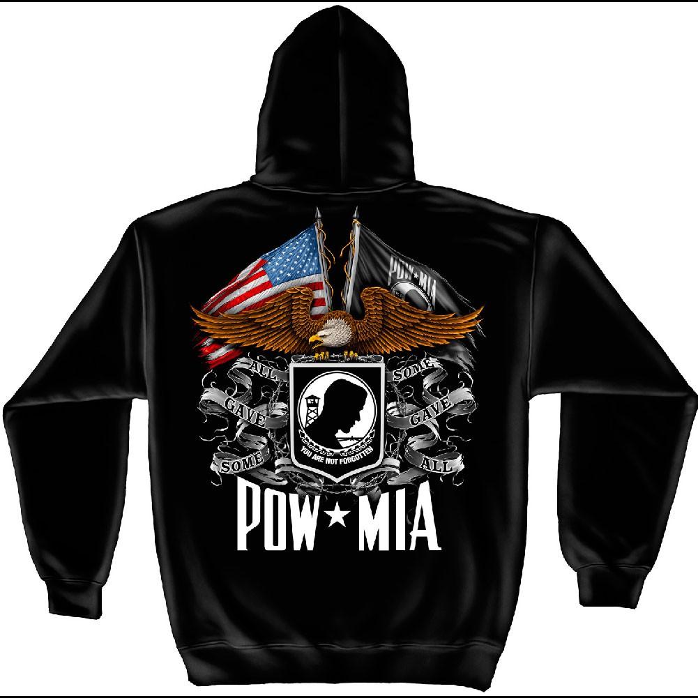 POW MIA Some Game All Black Hoodie