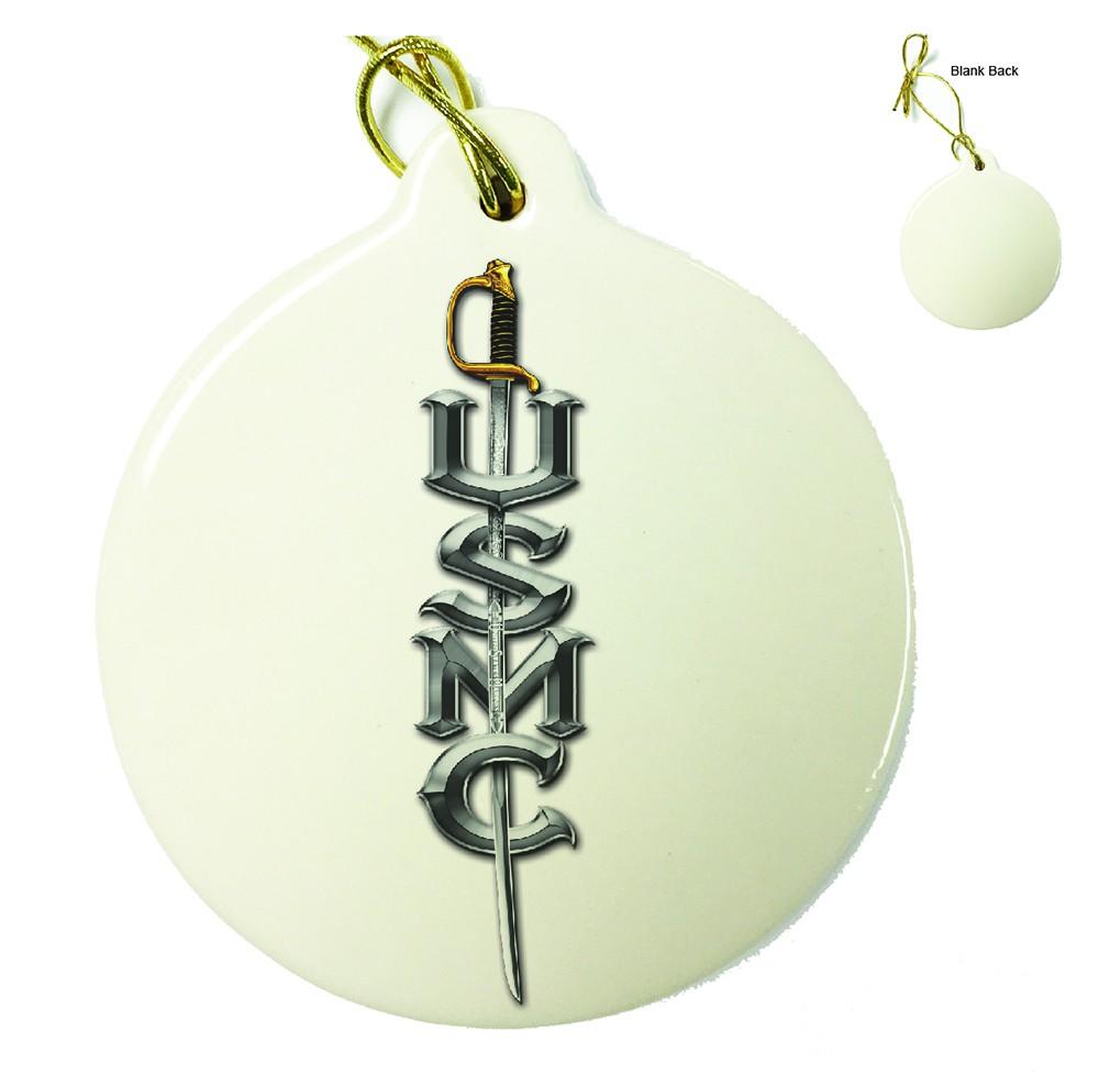 US Marine Corps USMC Sword Porcelain Ornament