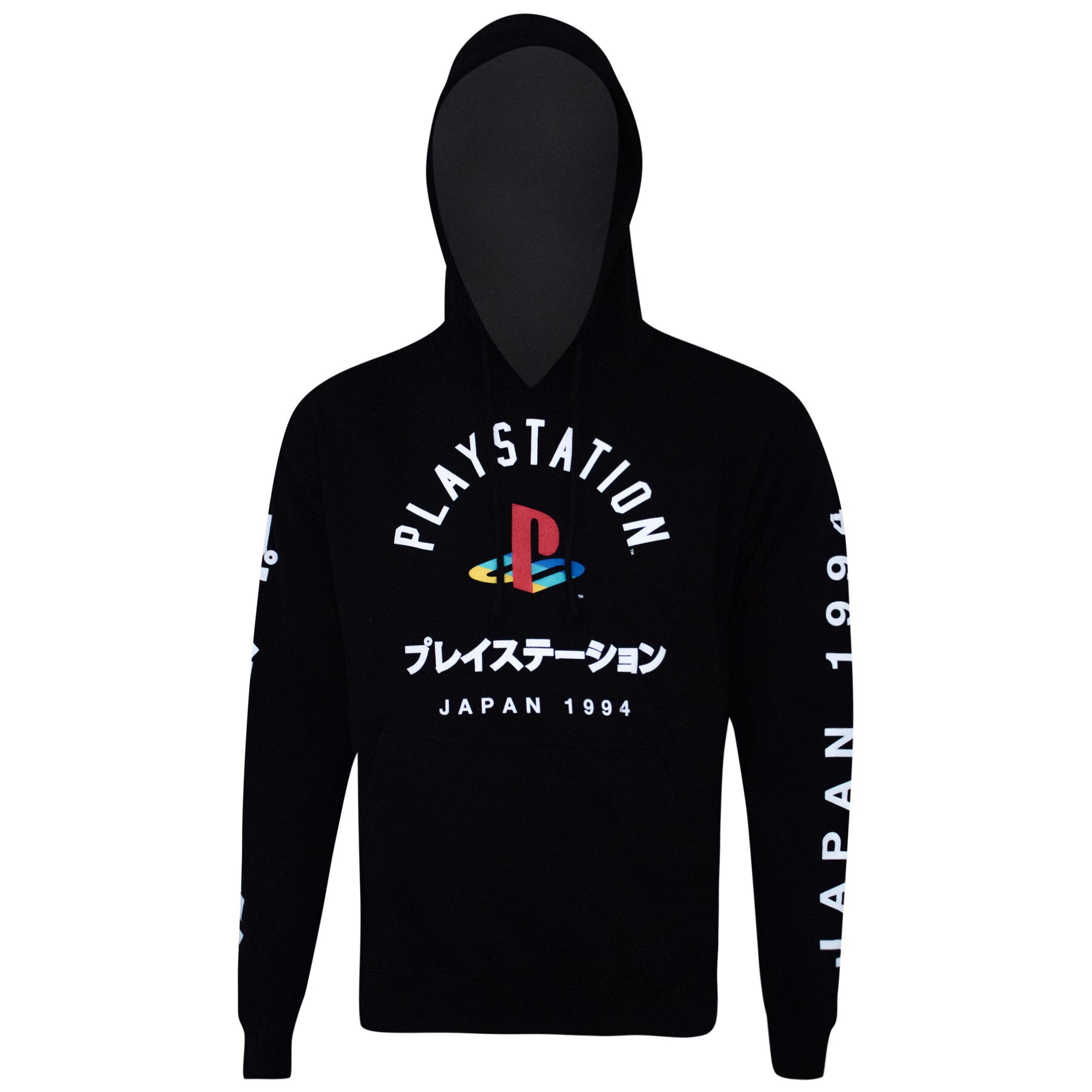 Playstation Japanese Logo Black Hoodie Sweatshirt