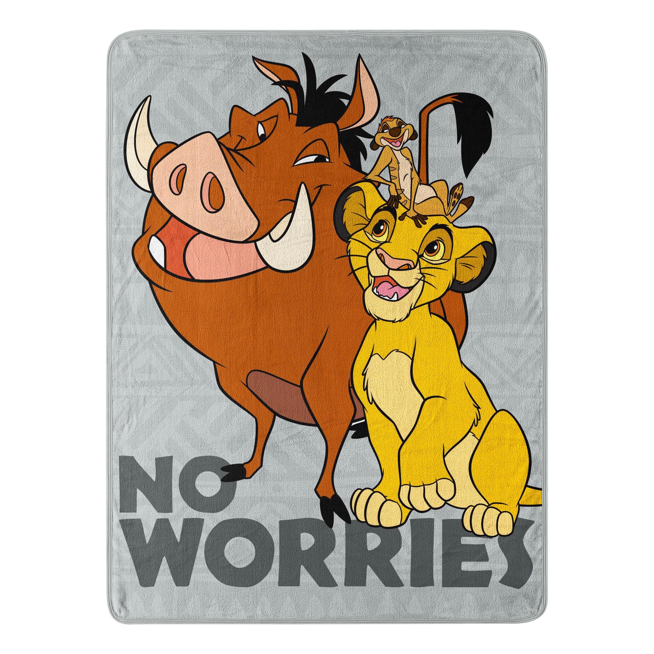Lion King No Worries Fleece Blanket