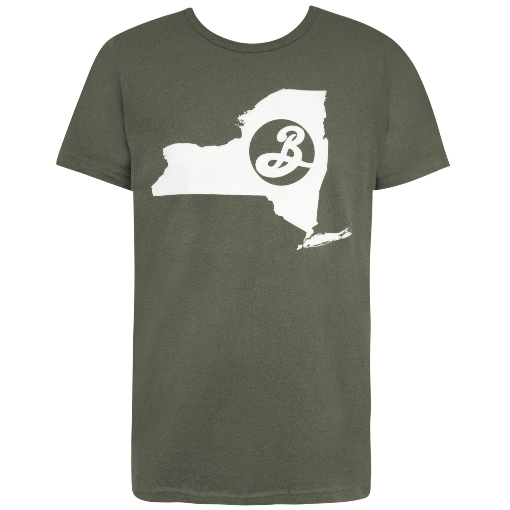 Brooklyn Brewery New York State Green Tee Shirt