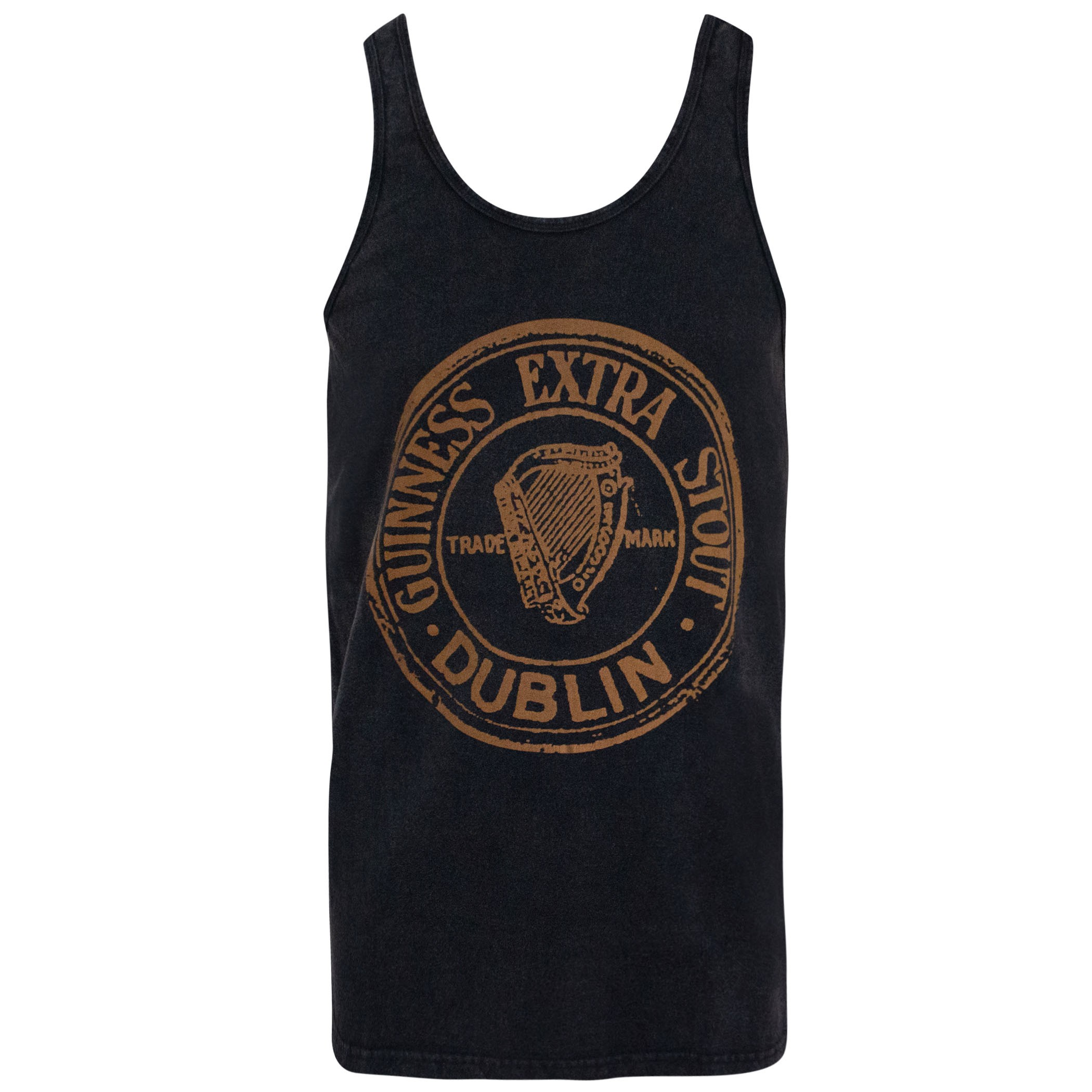 Guinness Extra Stout Washed Black Tank Top