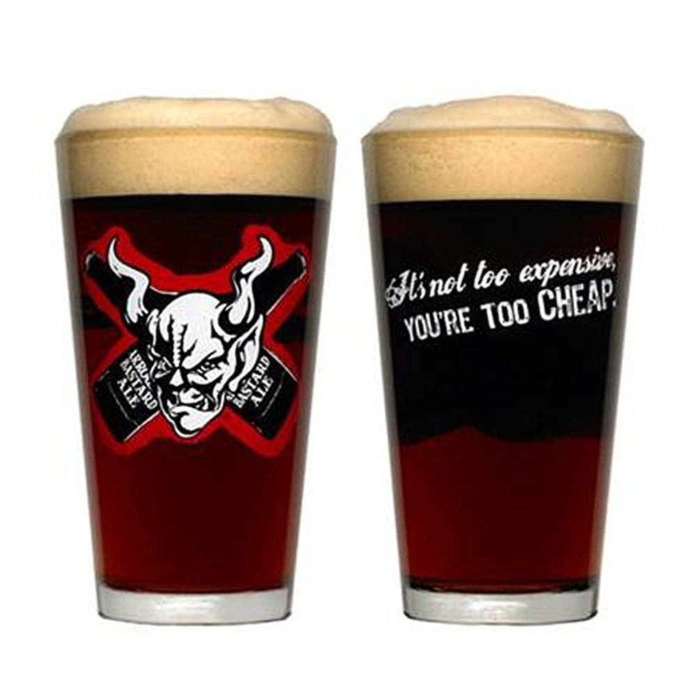 Arrogant Bastard Bones Pint Glass
