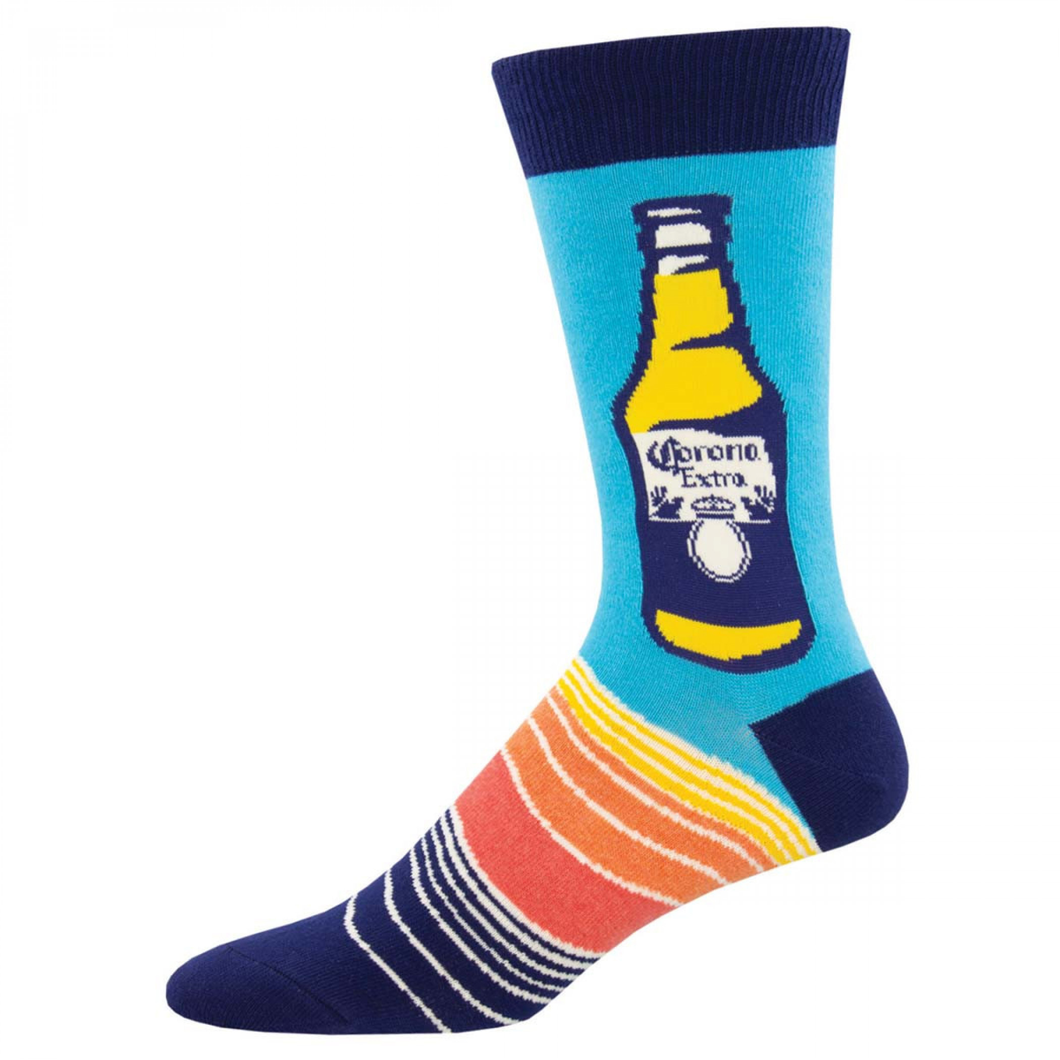 Corona Extra Beer Summer Design Blue Socks