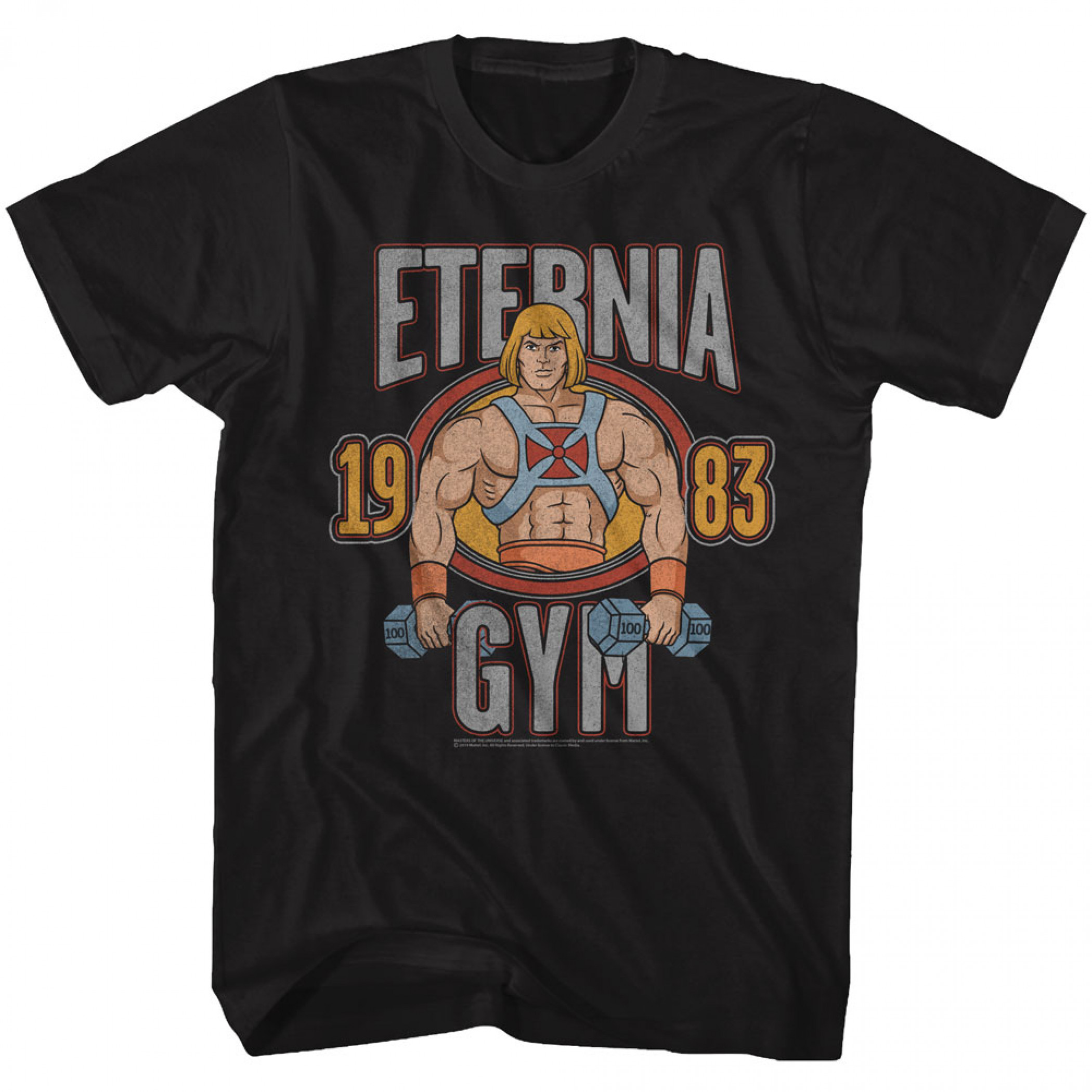 Masters of the Universe He-Man Eternia Gym T-Shirt