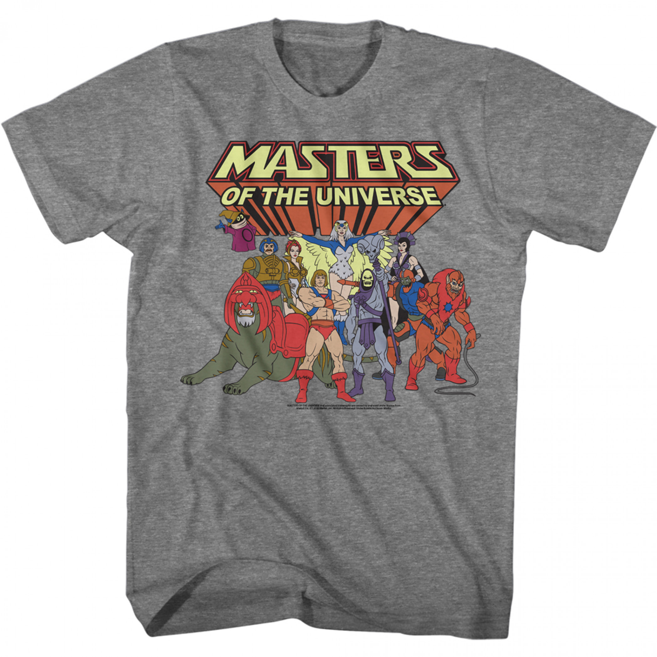 Masters of the Universe He-Man Heroes and Villains Cast T-Shirt