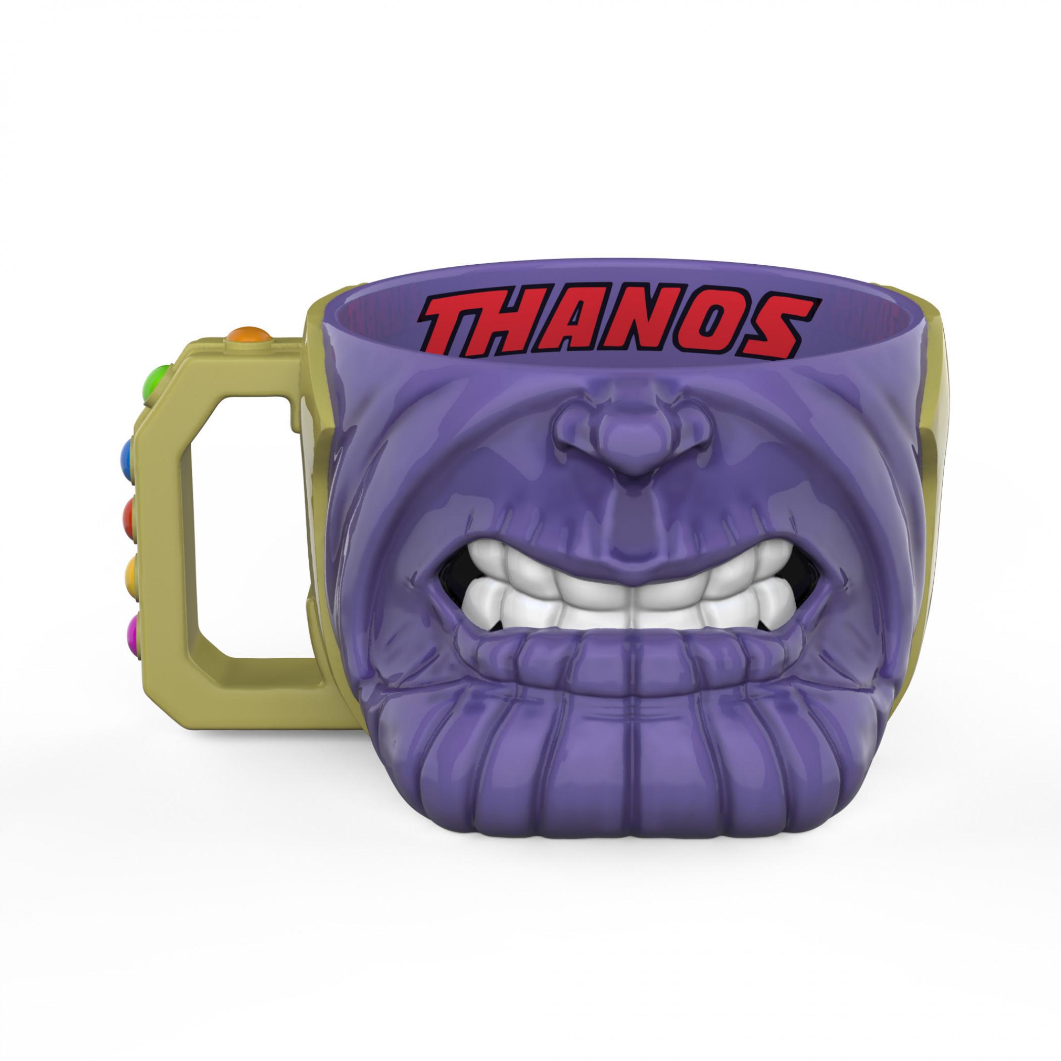Thanos Face Sculpted Mug