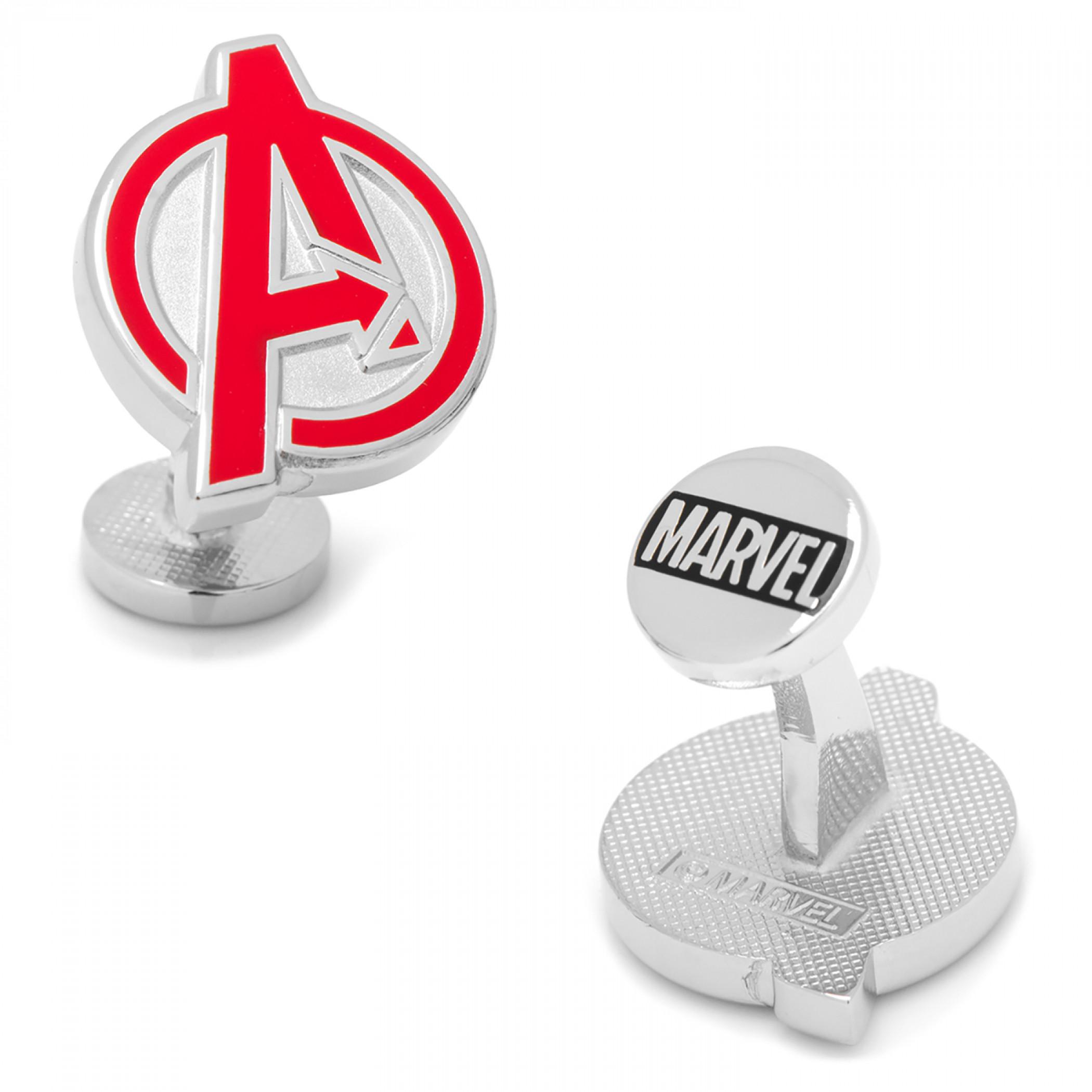 Avengers Logo Silver Cufflinks