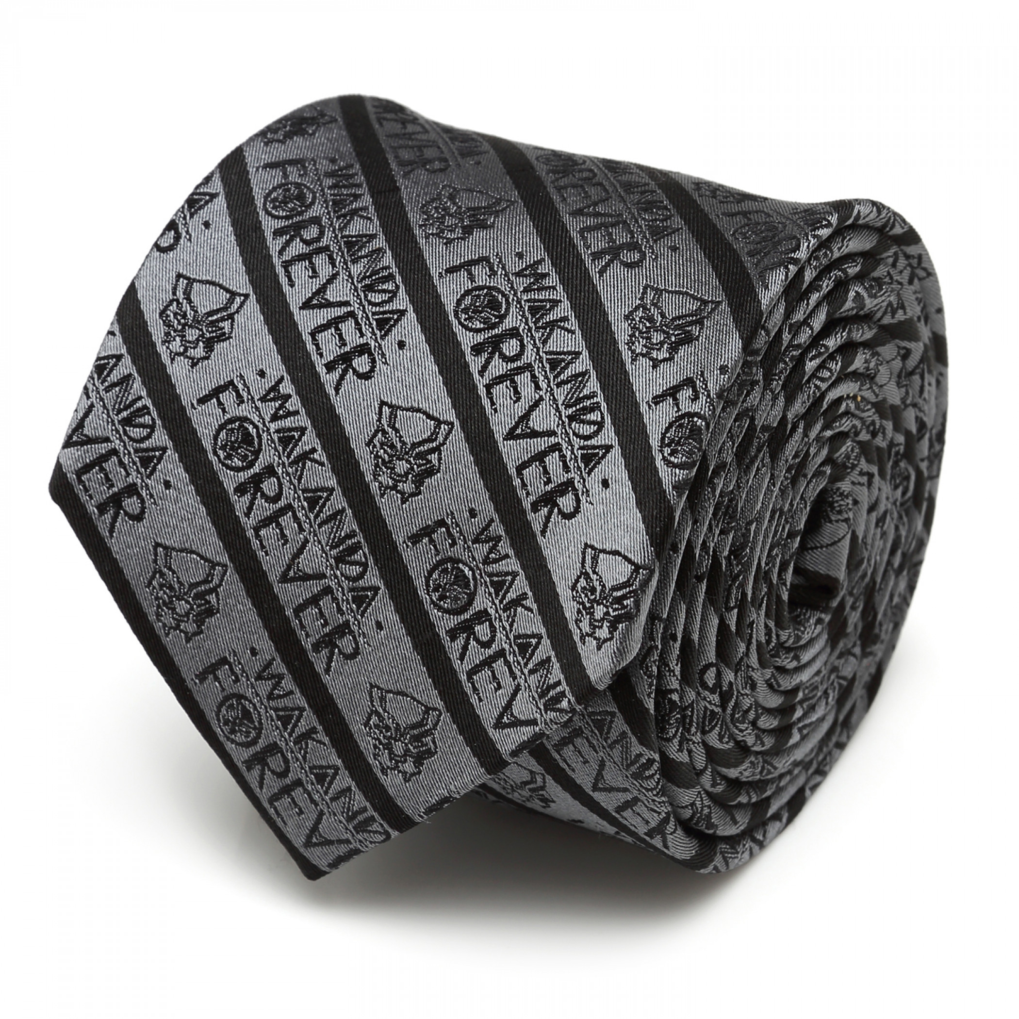 Black Panther Wakanda Forever Grey Tie