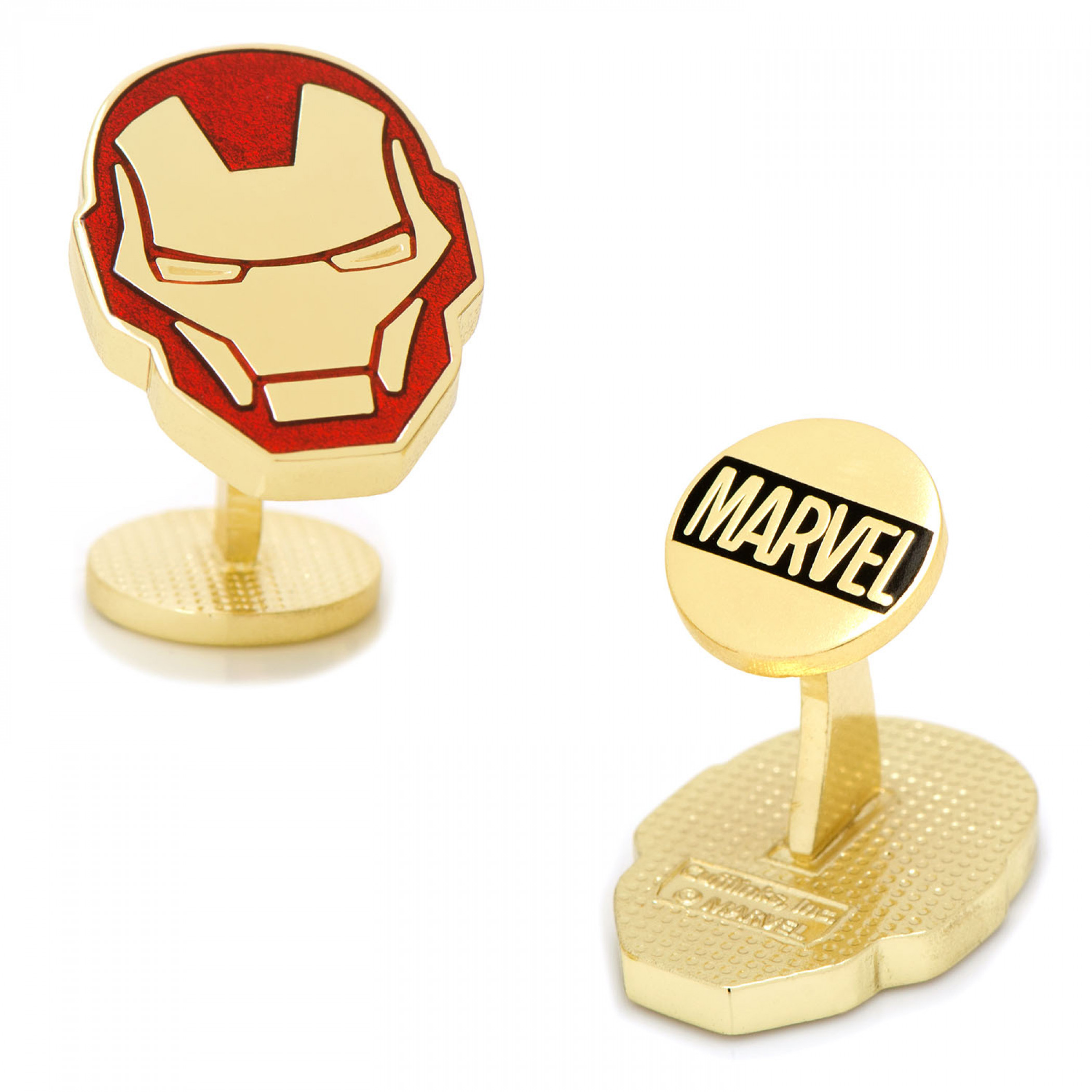 Iron Man Helmet Gold Cufflinks