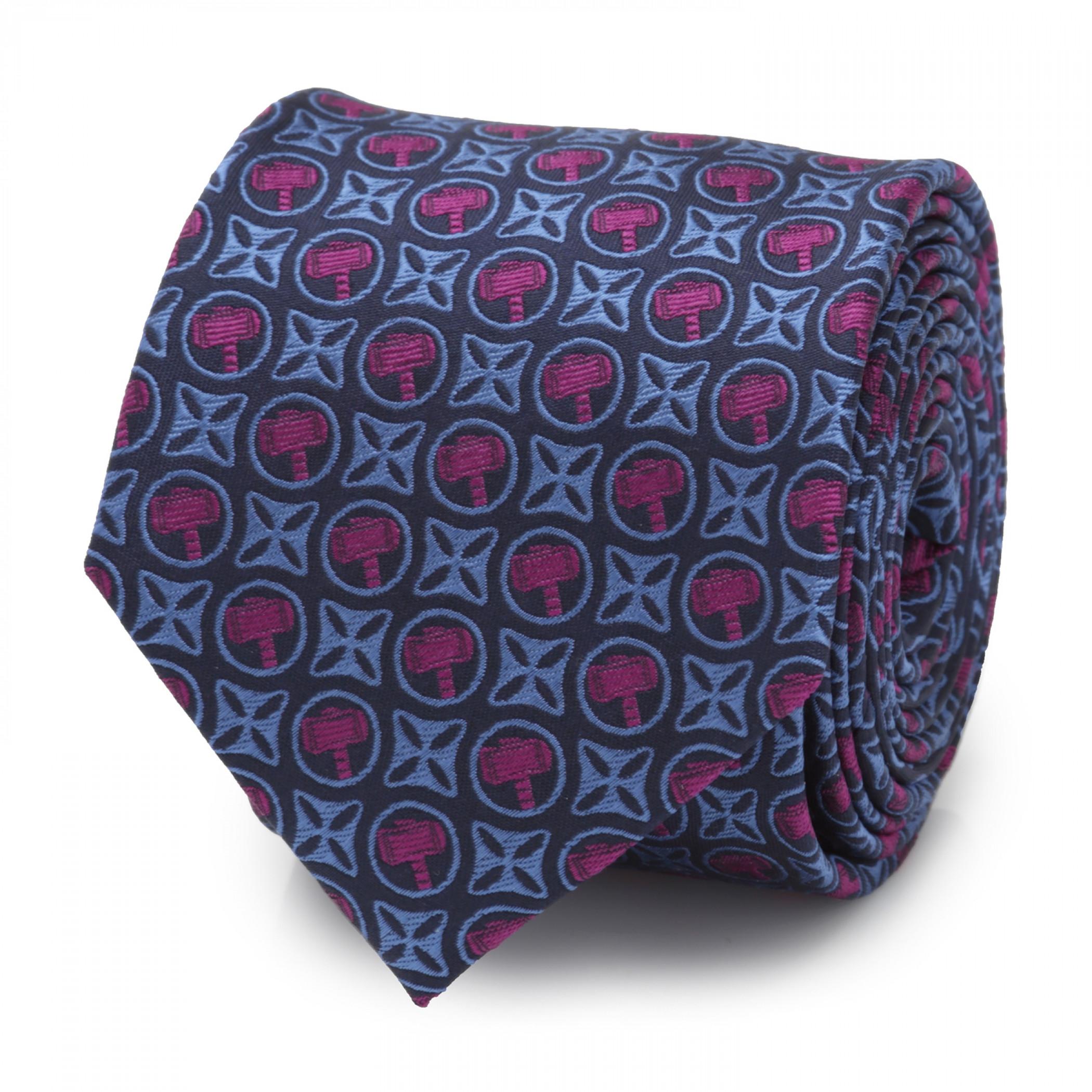 Thor Hammer Men's Silk Tie