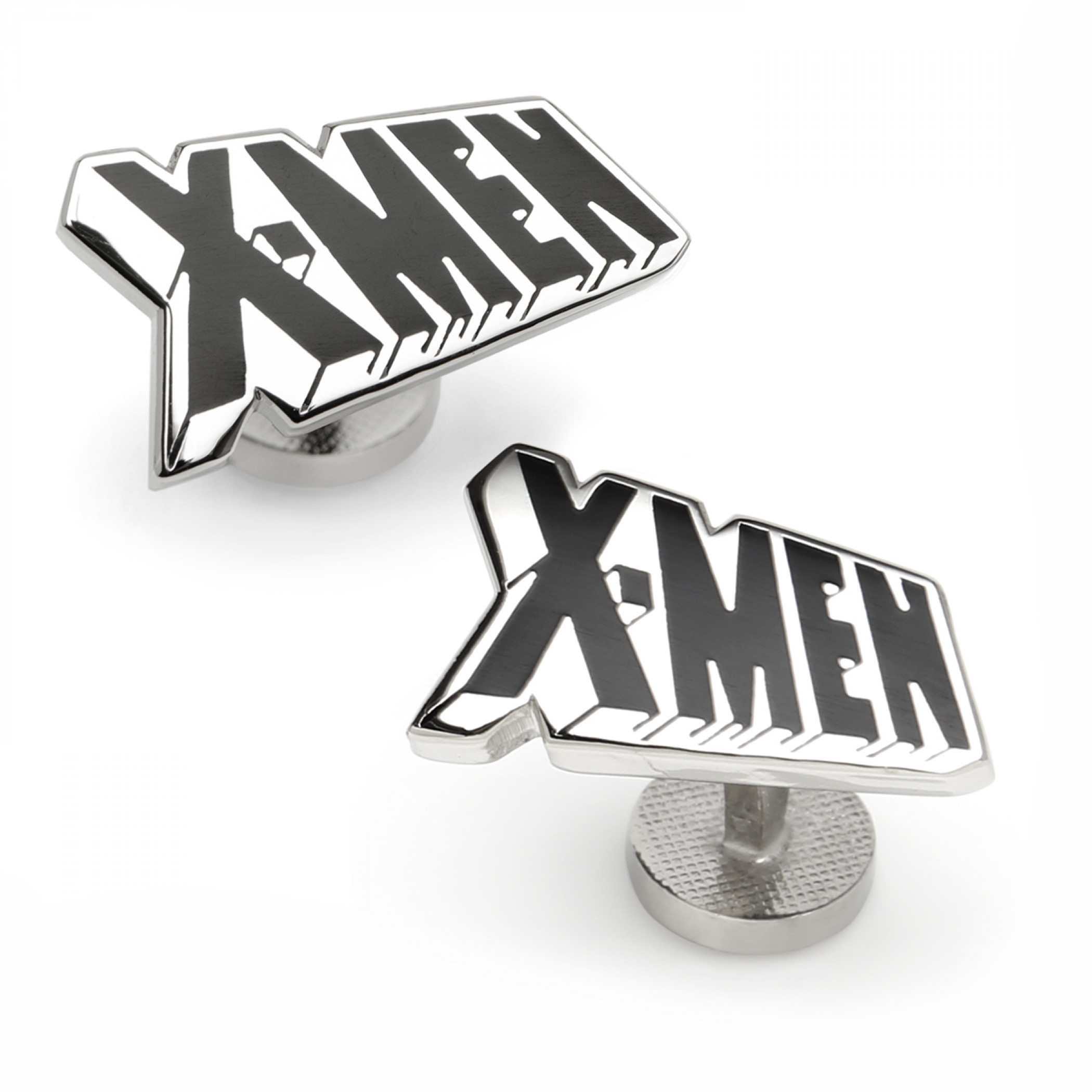 X-Men Logo Silver Cufflinks
