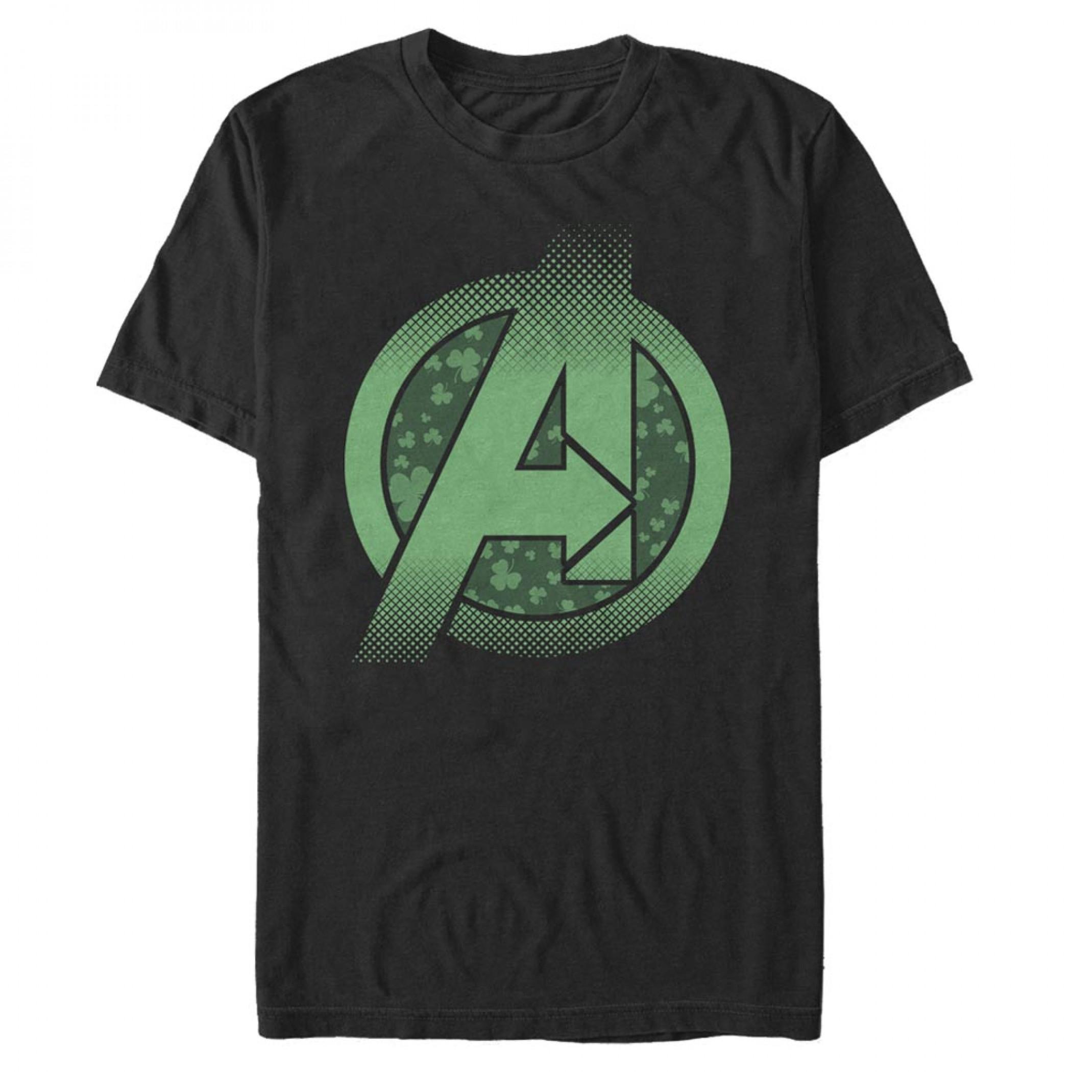 Avengers Logo St. Patrick's Day T-Shirt