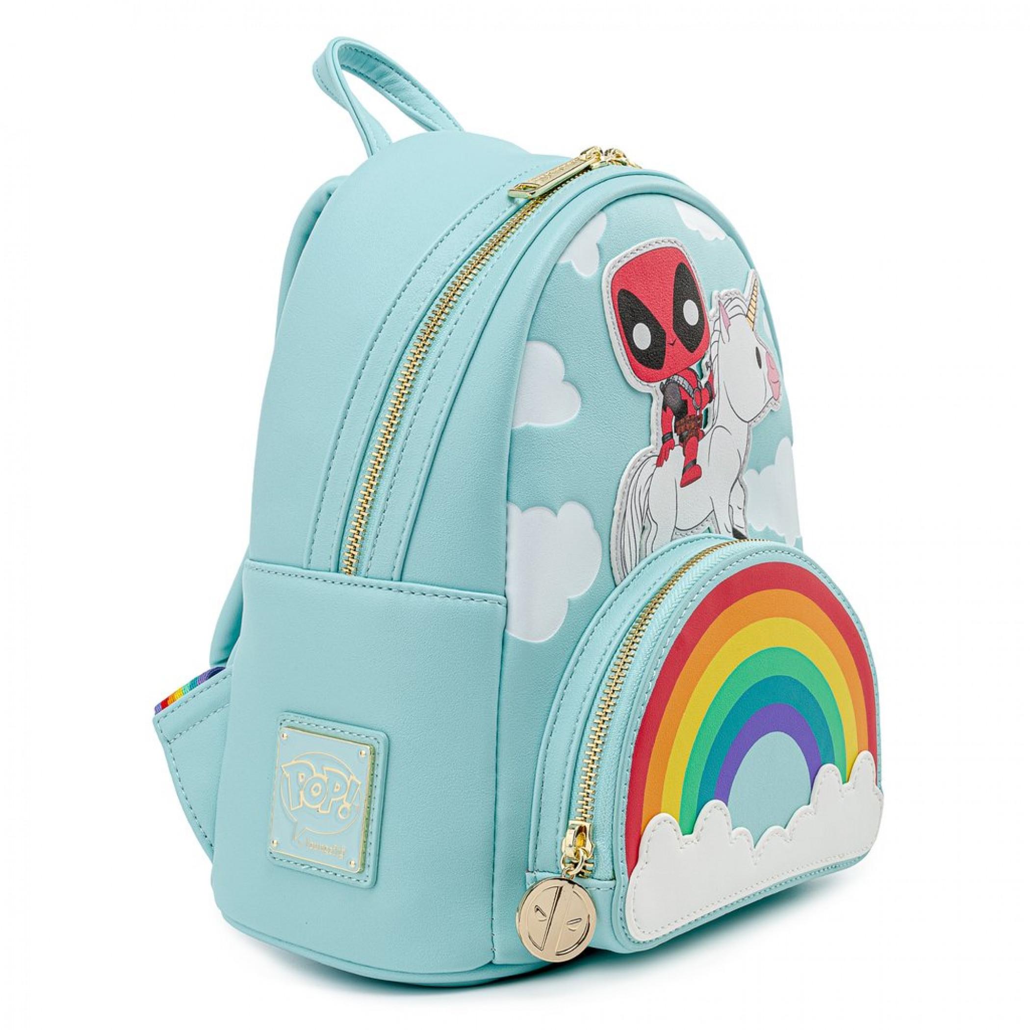 Marvel Deadpool Unicorn Rainbow Mini Backpack by Loungefly