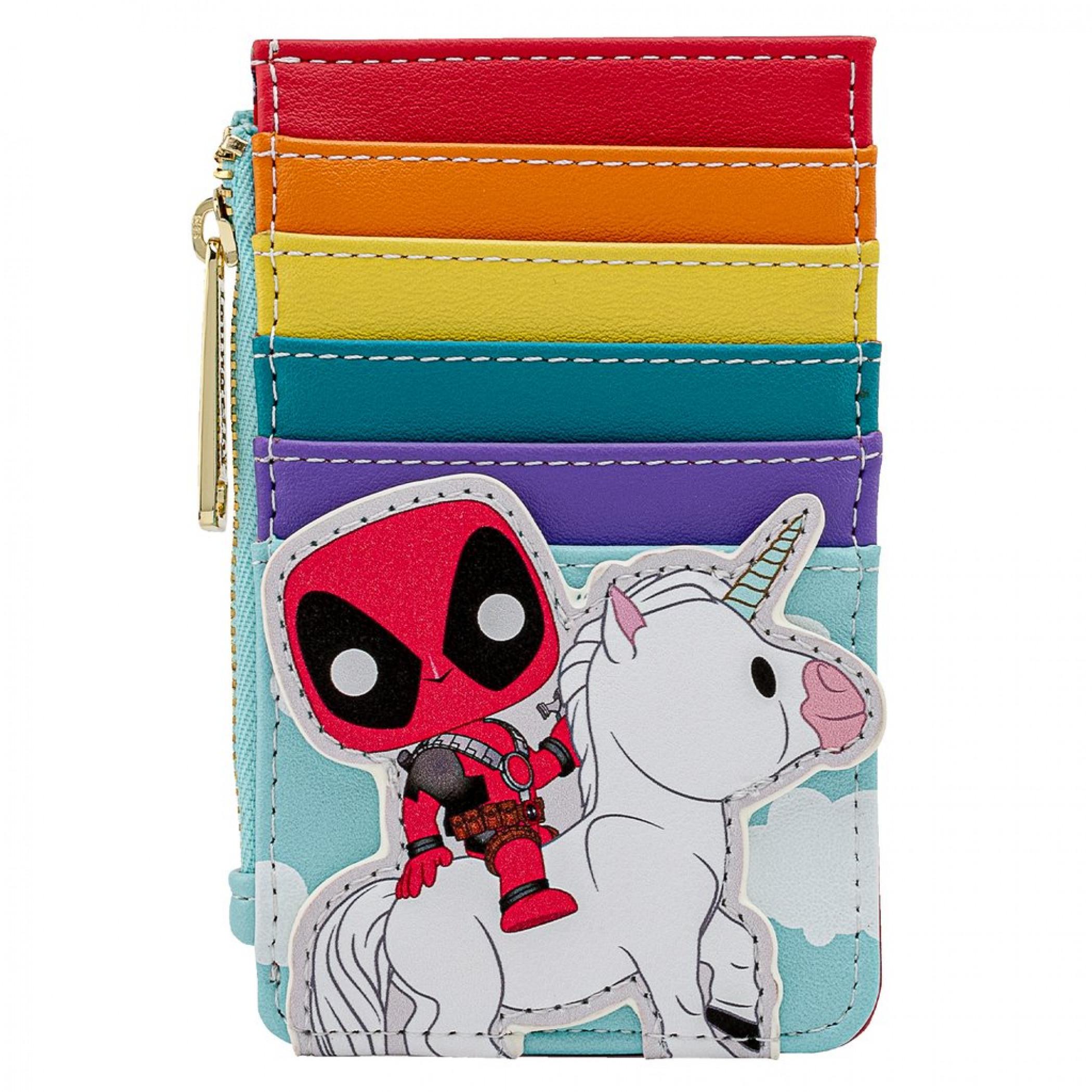 Marvel Deadpool 30th Anniversary Unicorn Rainbow Card Holder by Loungefly