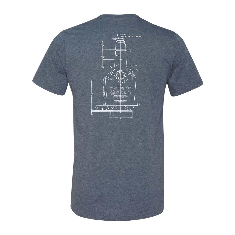 Maker's Mark Blueprint Tee Shirt