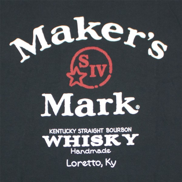 Maker's Mark Arch Logo Black Long Sleeve T-Shirt