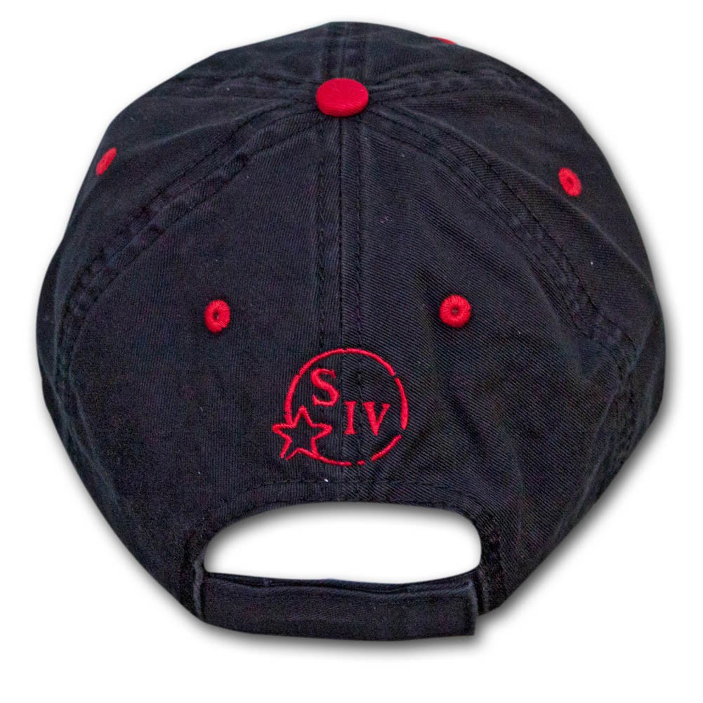 Makers Mark Red Logo Hat - Black
