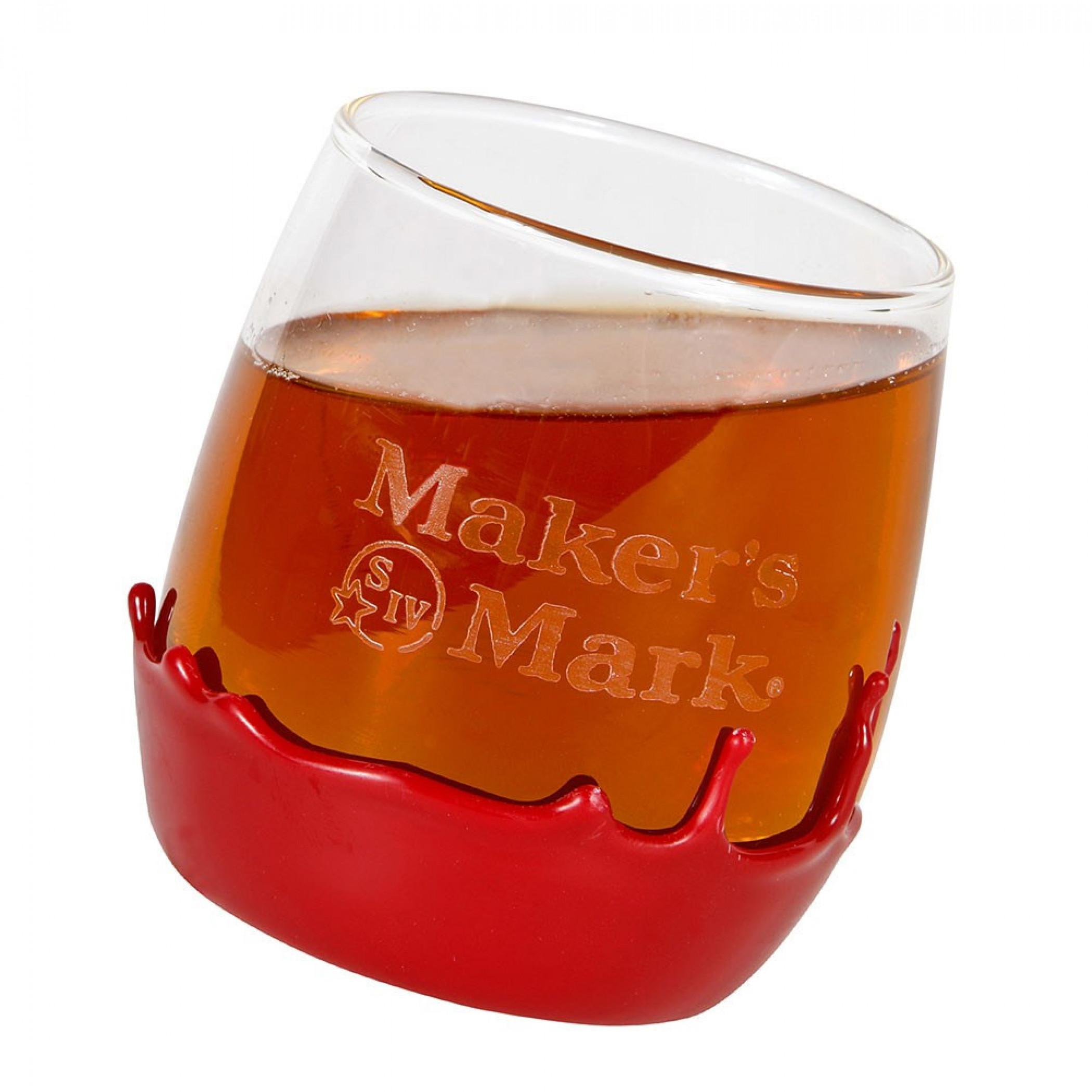 Wax Dipped Maker's Mark Rolling Rocks Glass