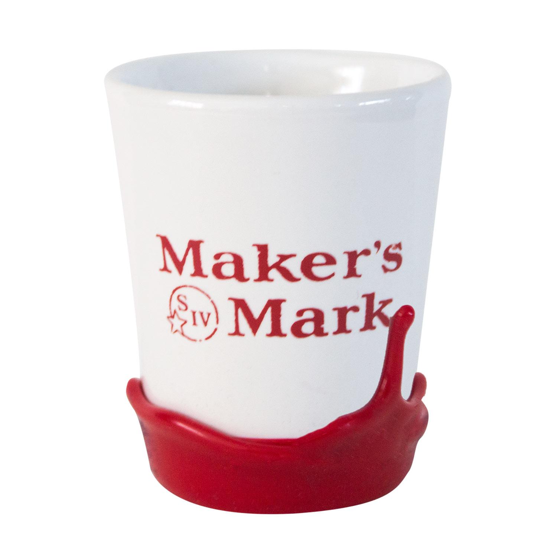 Maker's Mark Dipped White Shot Glass