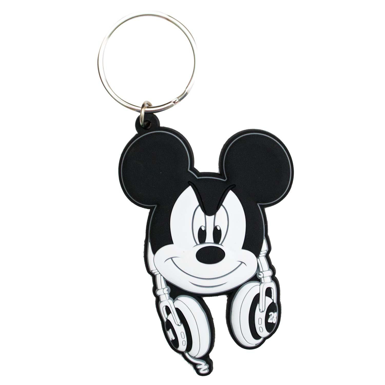 Mickey Mouse Rubber Headphones Keychain