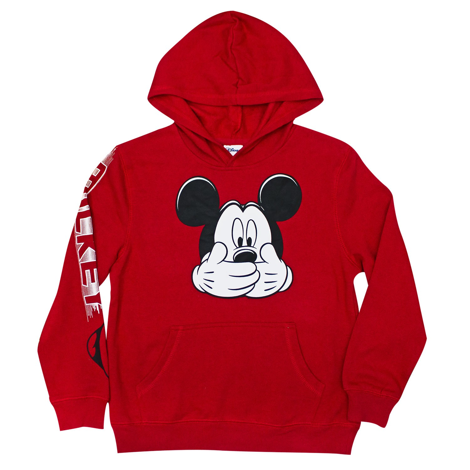 Mickey Mouse Hush Red Boys Youth 8-20 Hoodie