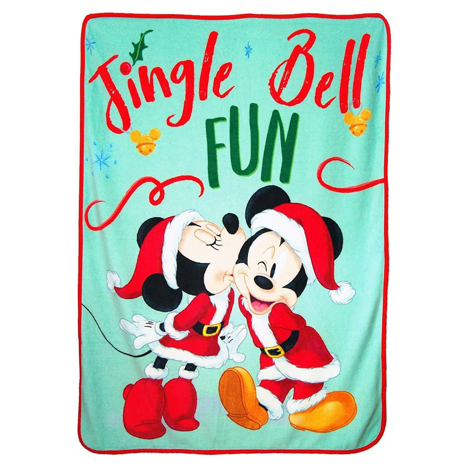 Mickey and Minnie Christmas Throw Blanket