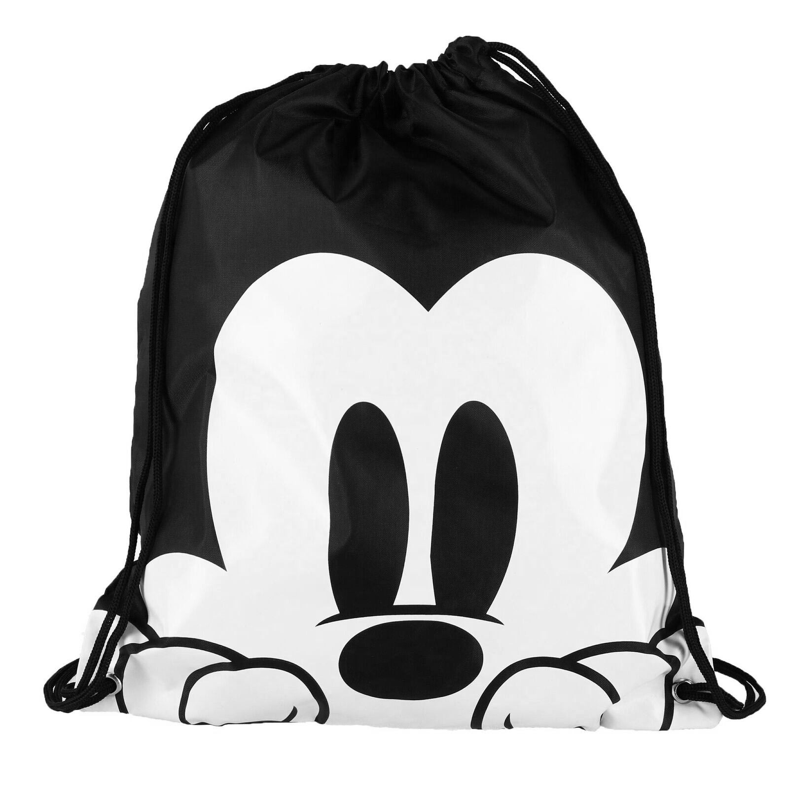 Mickey Mouse Black And White Drawstring Bag
