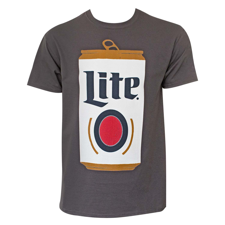 Miller Lite Can Men's Dark Gray T-Shirt