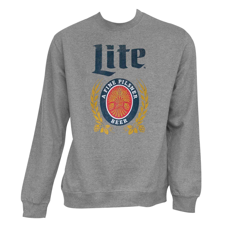 Miller Lite Grey Crewneck Sweatshirt