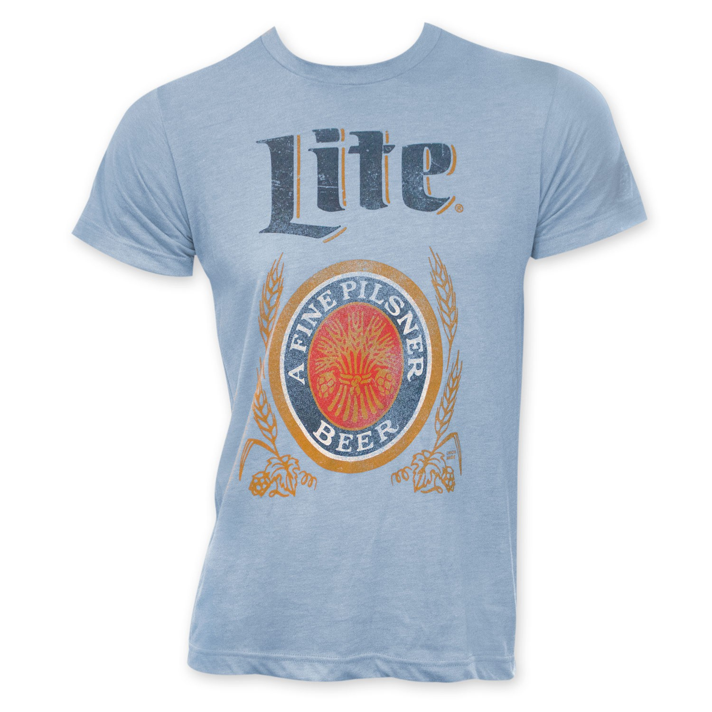 Miller Lite Classic Logo Men's Light Blue T-Shirt