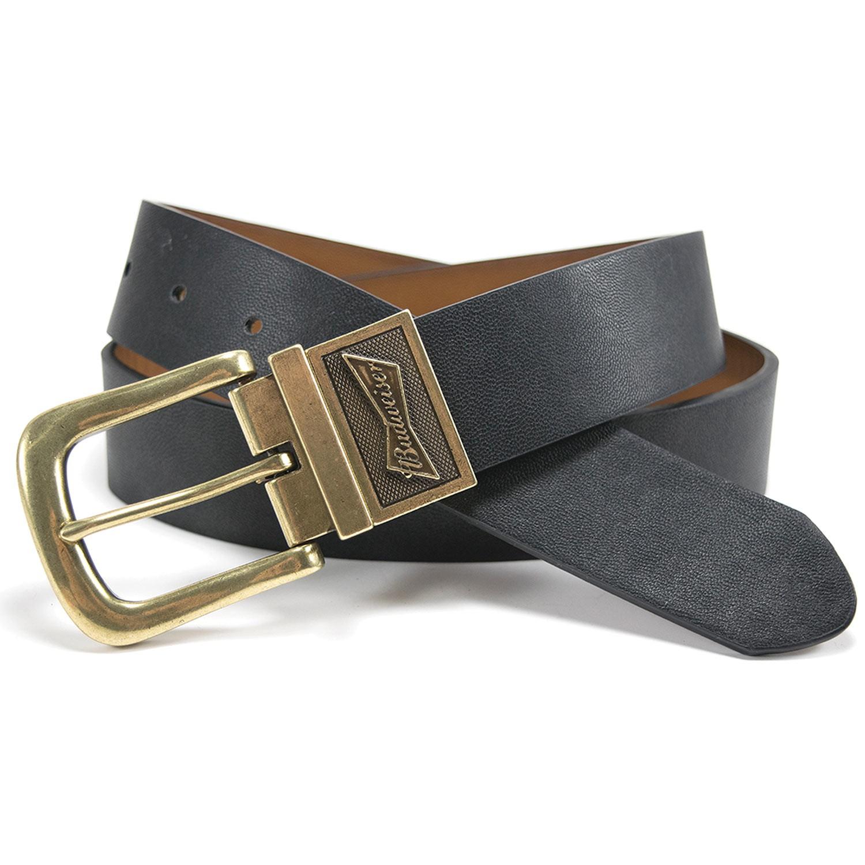 Budweiser Gold Buckle Reversible Belt