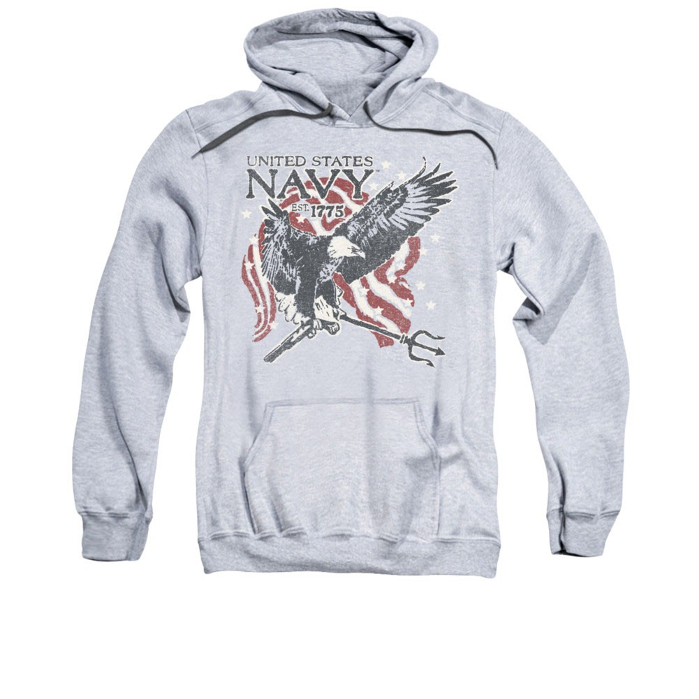 US Navy Trident Gray Pullover Hoodie