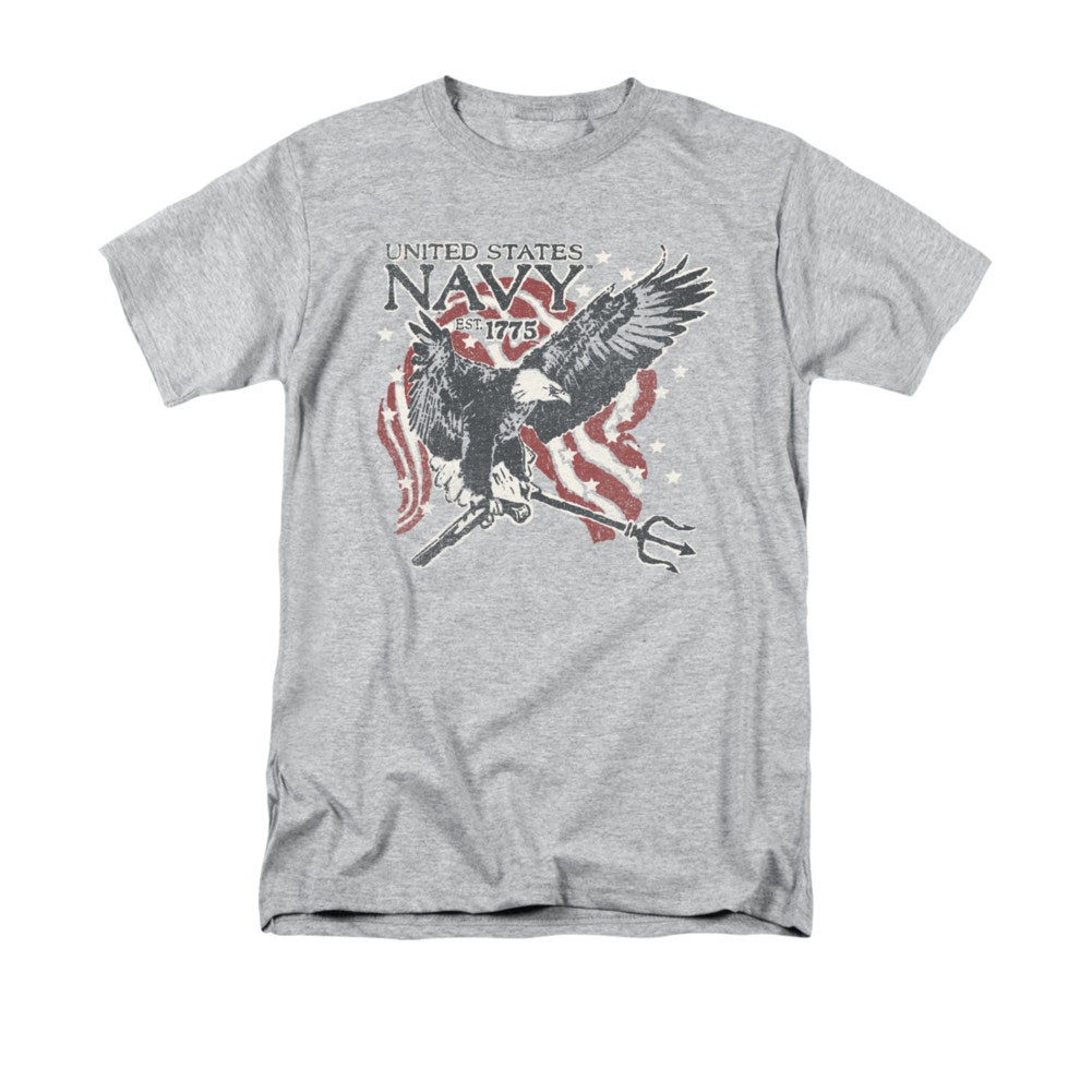 US Navy Trident Gray T-Shirt