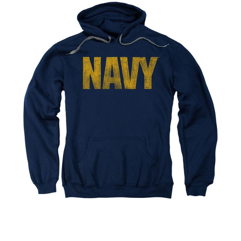 US Navy Logo Blue Pullover Hoodie