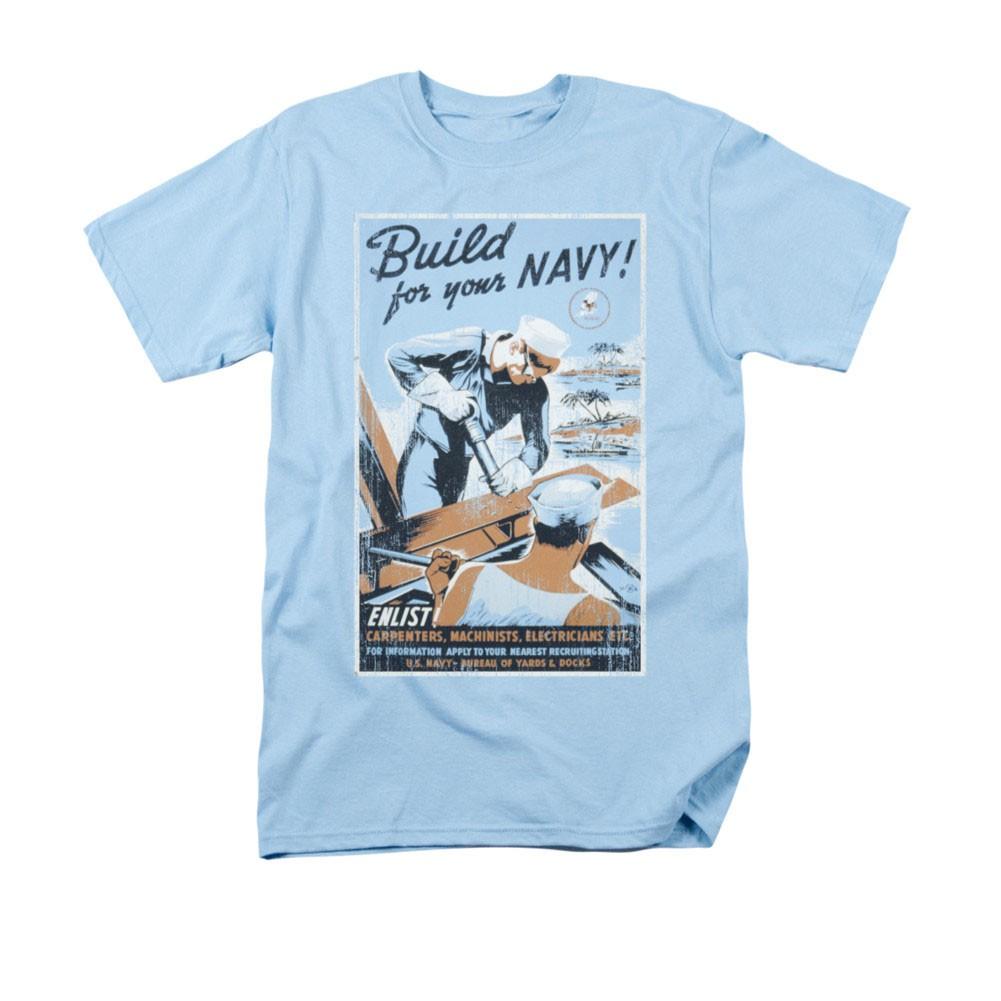 US Navy Build Blue T-Shirt