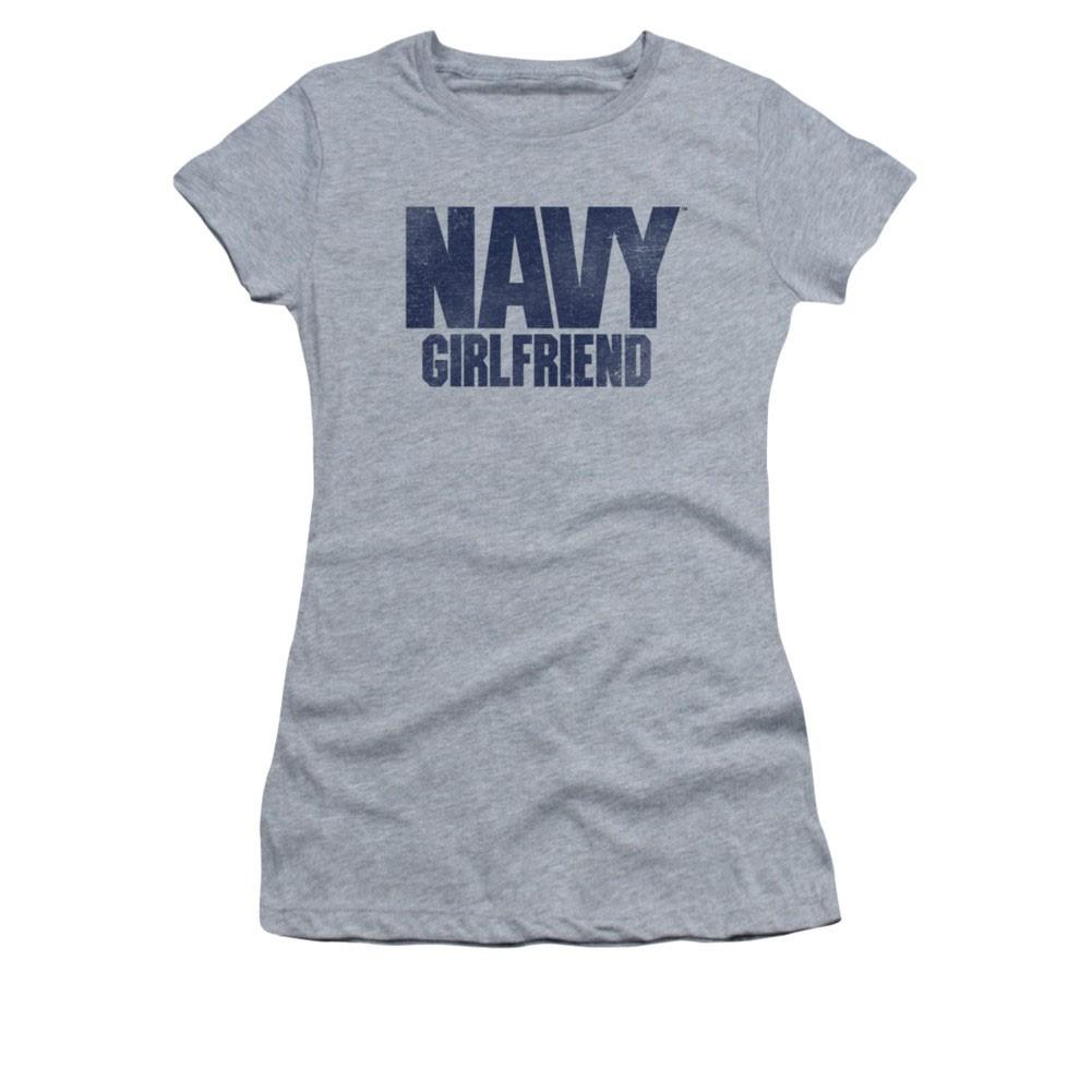 US Navy Girlfriend Gray Juniors T-Shirt