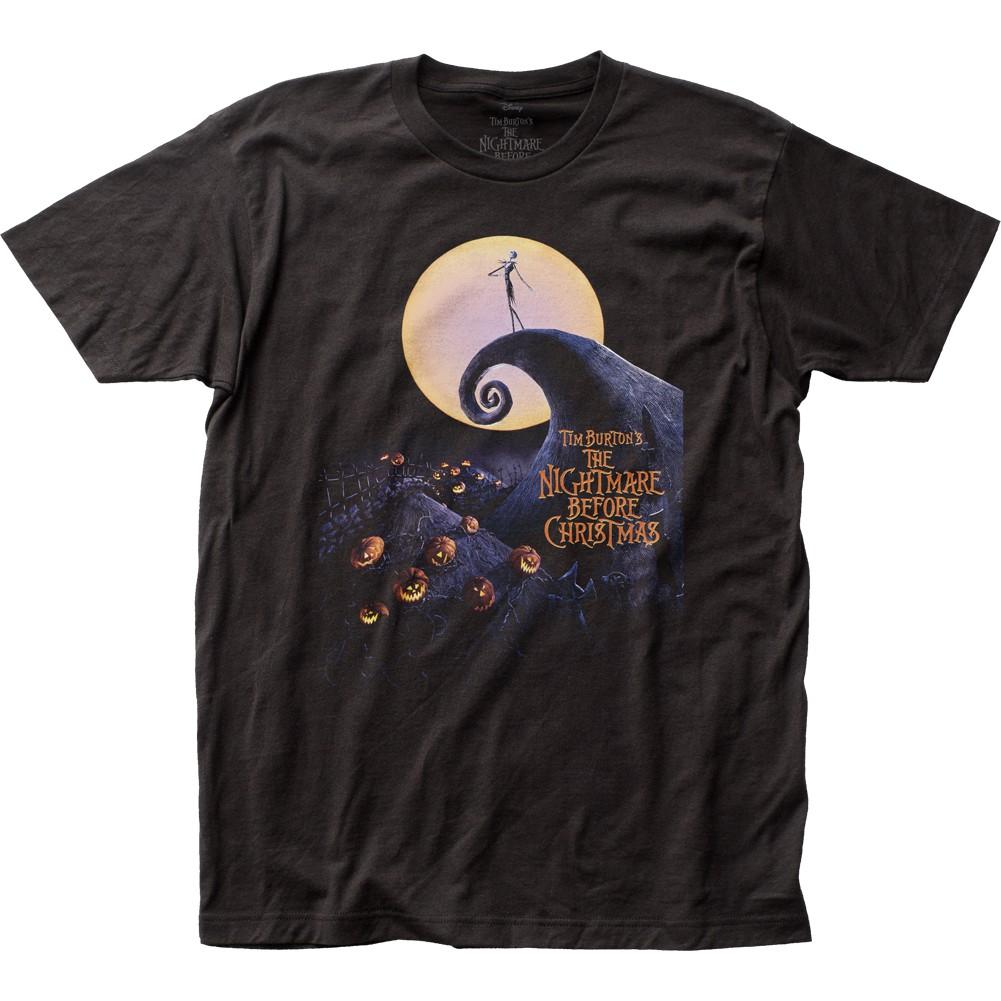 Nightmare Before Christmas Cover Black Tee Shirt