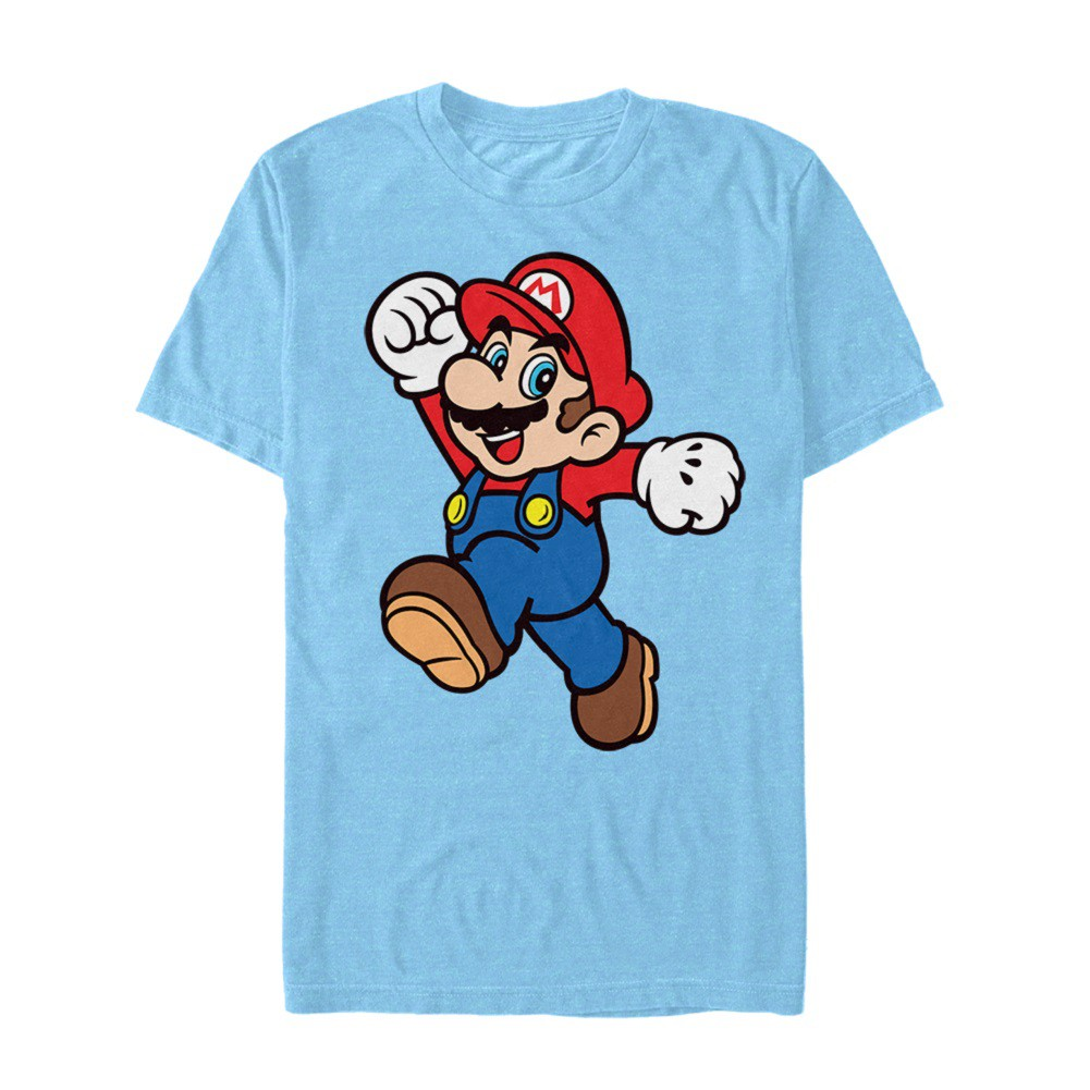 Mario Power Pose Light Blue Men's T-Shirt
